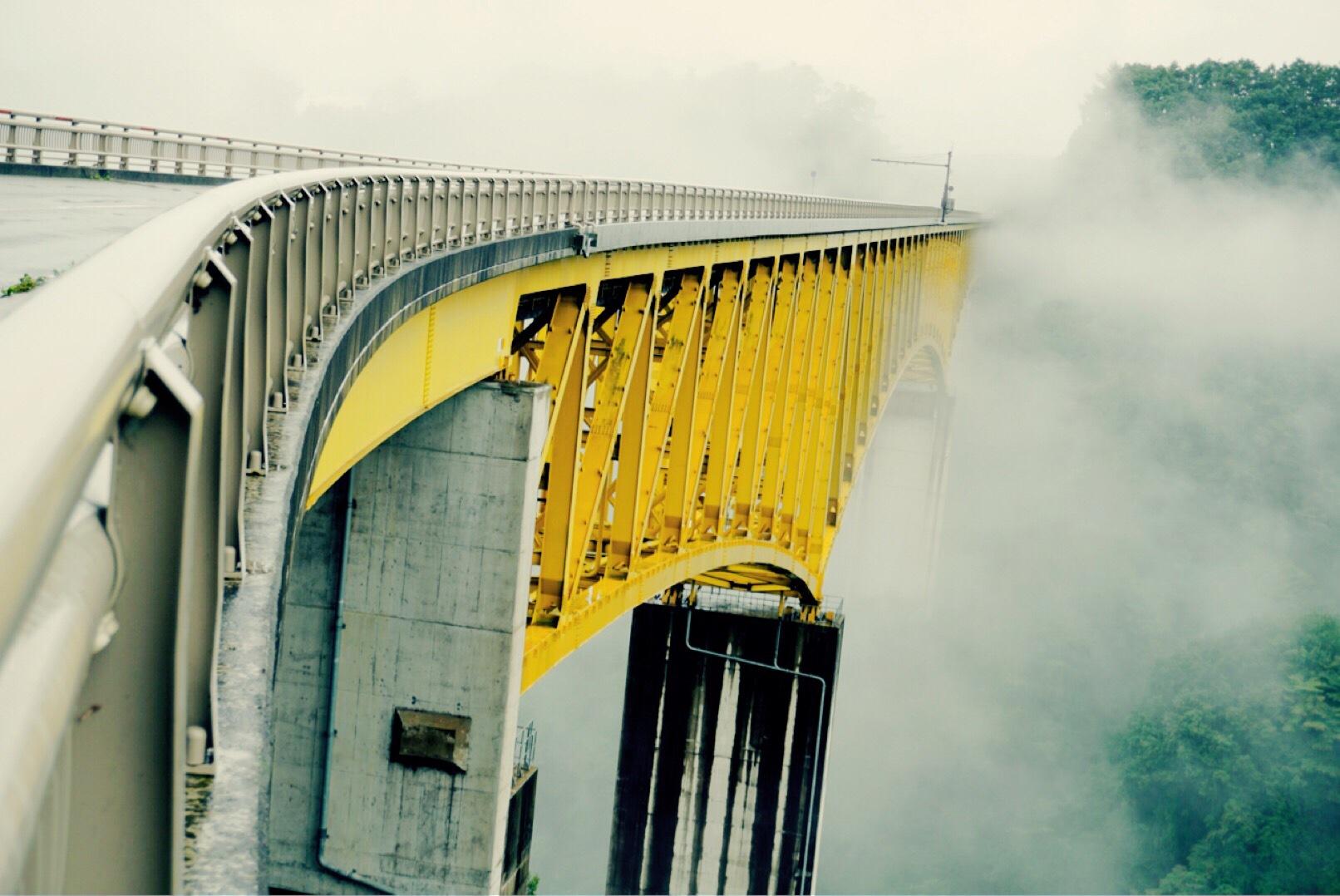 Yellow bridge in the cloud~where am I going?~ by HIRO