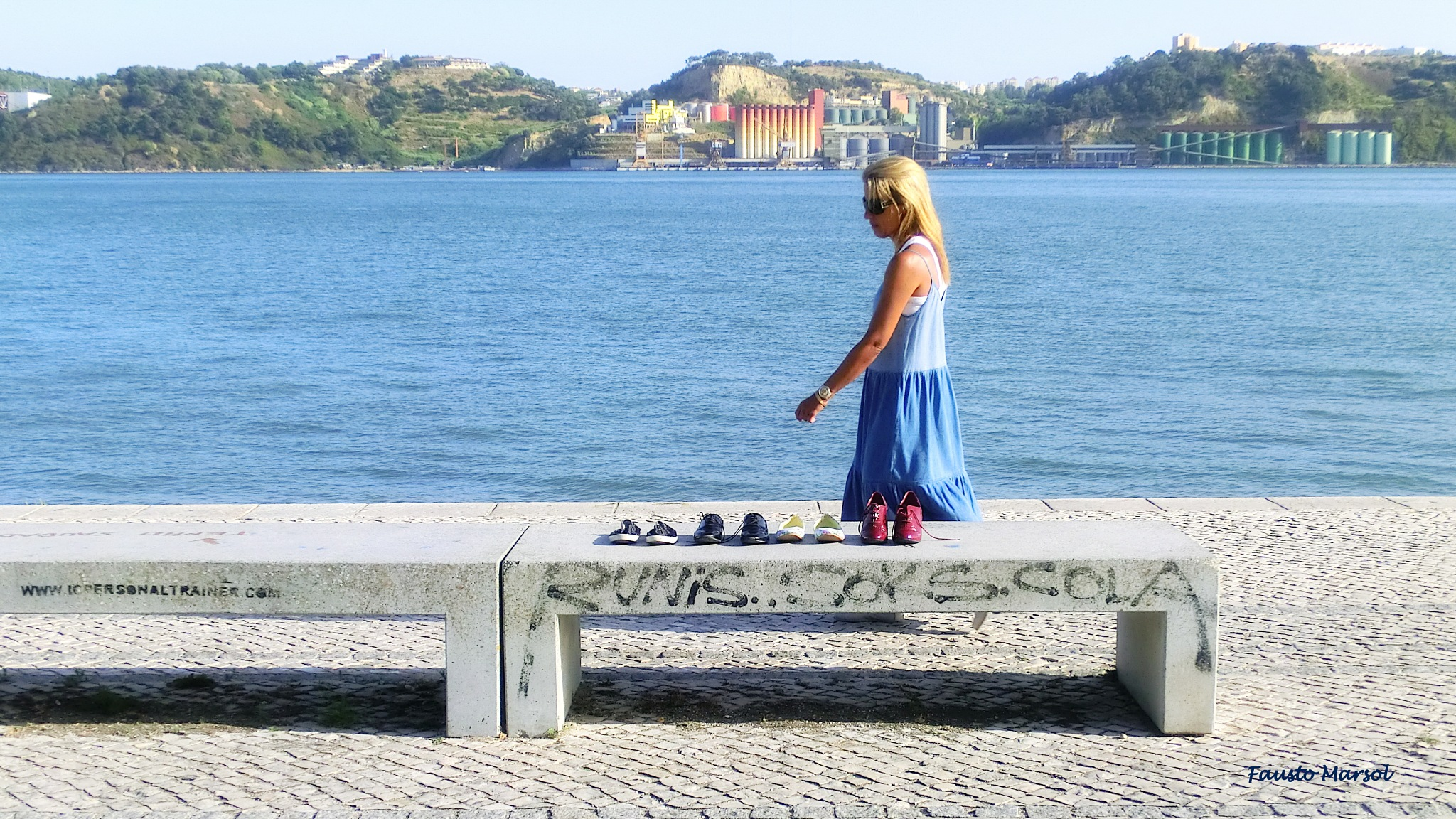 The river, the shoes & the lady (6/6) by Fausto Marsol