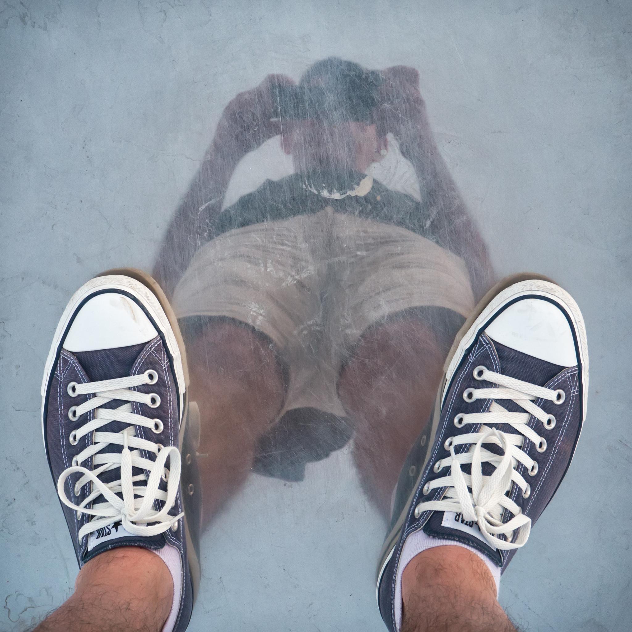 Photo in People #man #reflection #downside #sneackers