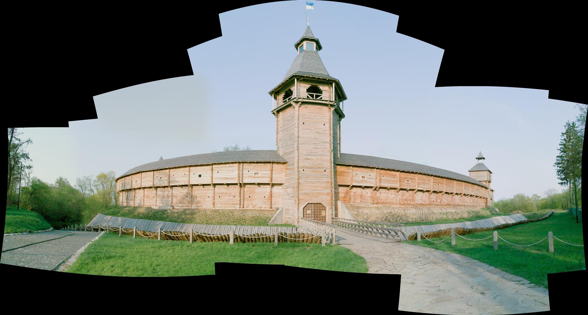 Panorama of cossack fortress, Baturyn by DimaShevchuk