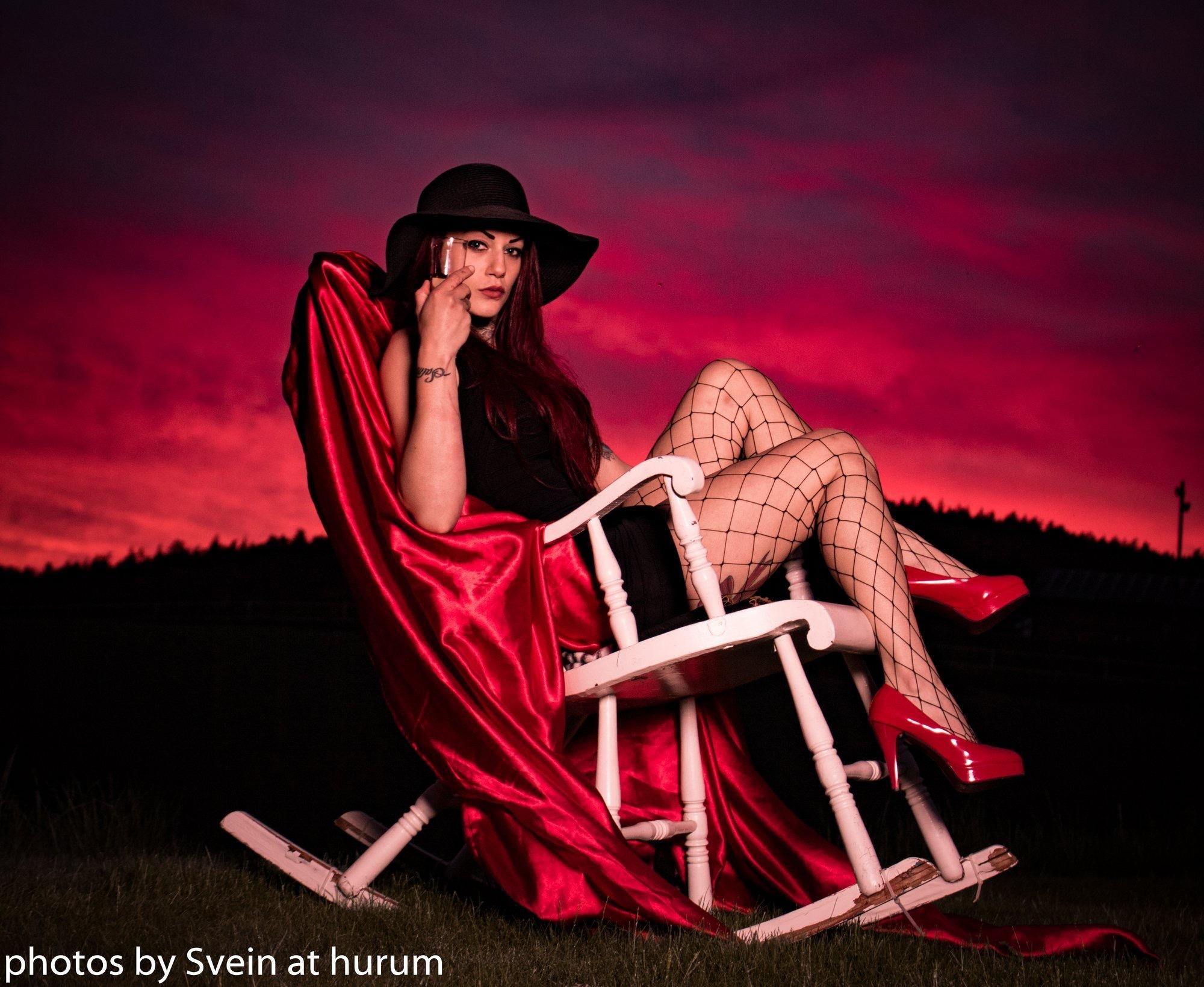 Miss Rage in the norwegian Sunset  by Svein At Hurum