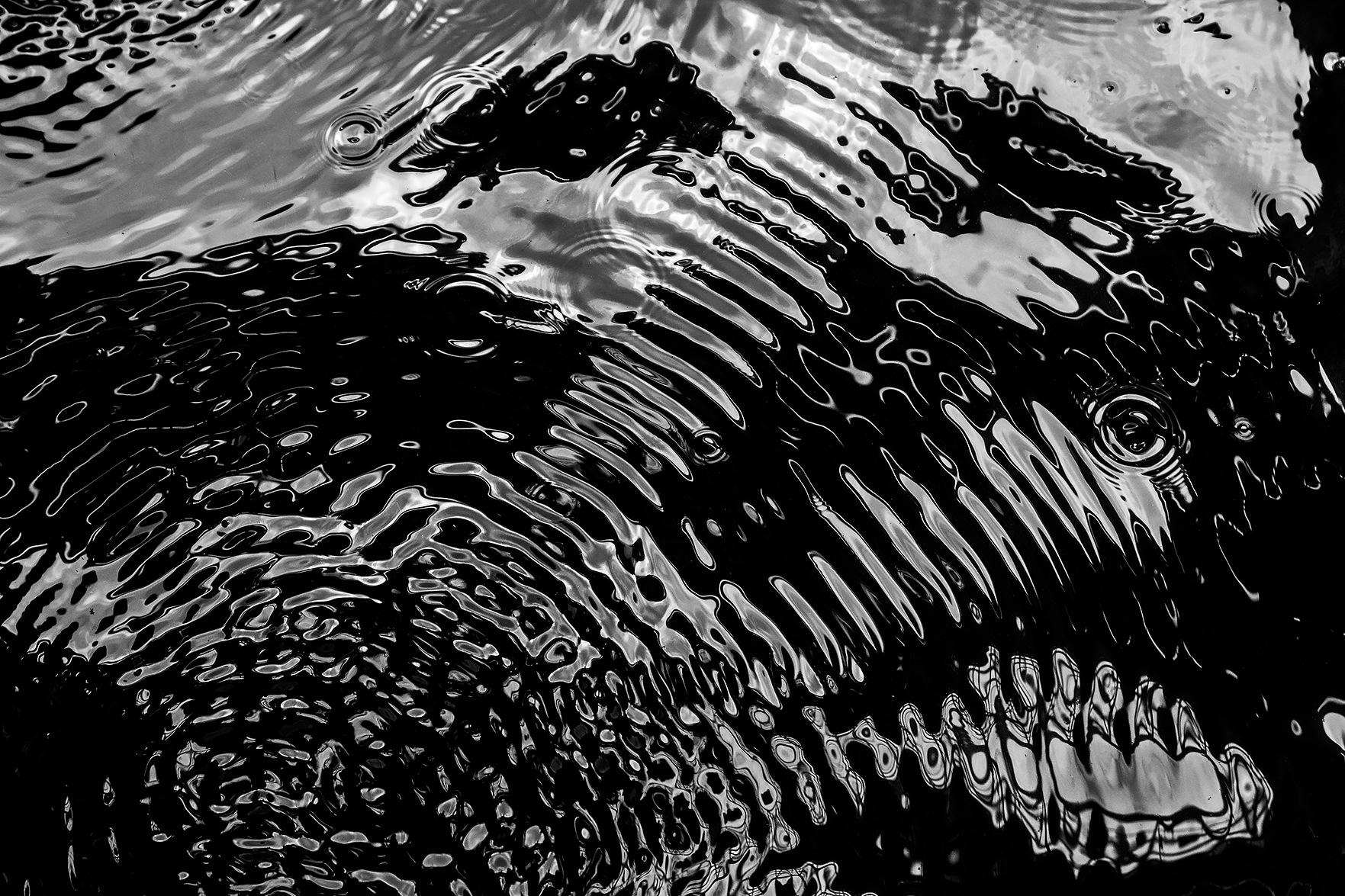 Vibrations on water surface by Domas Rakauskas