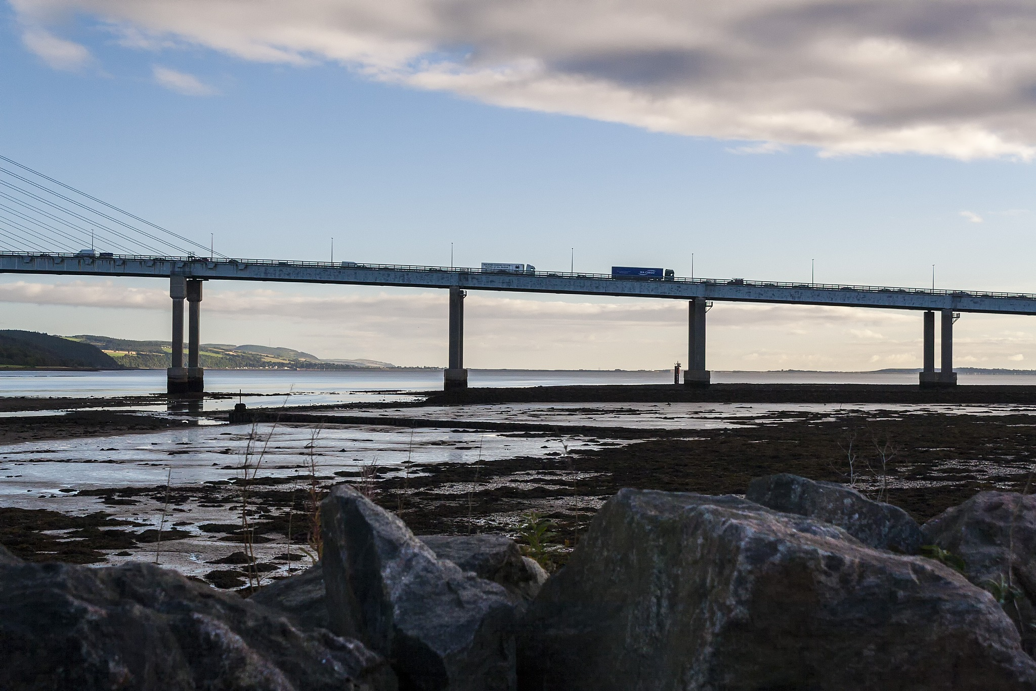 Morning on Kessock Bridge by Domas Rakauskas