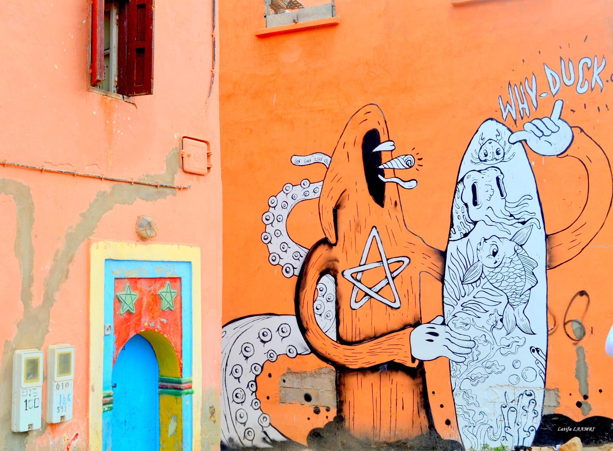 Street-art Taghazout by loli1