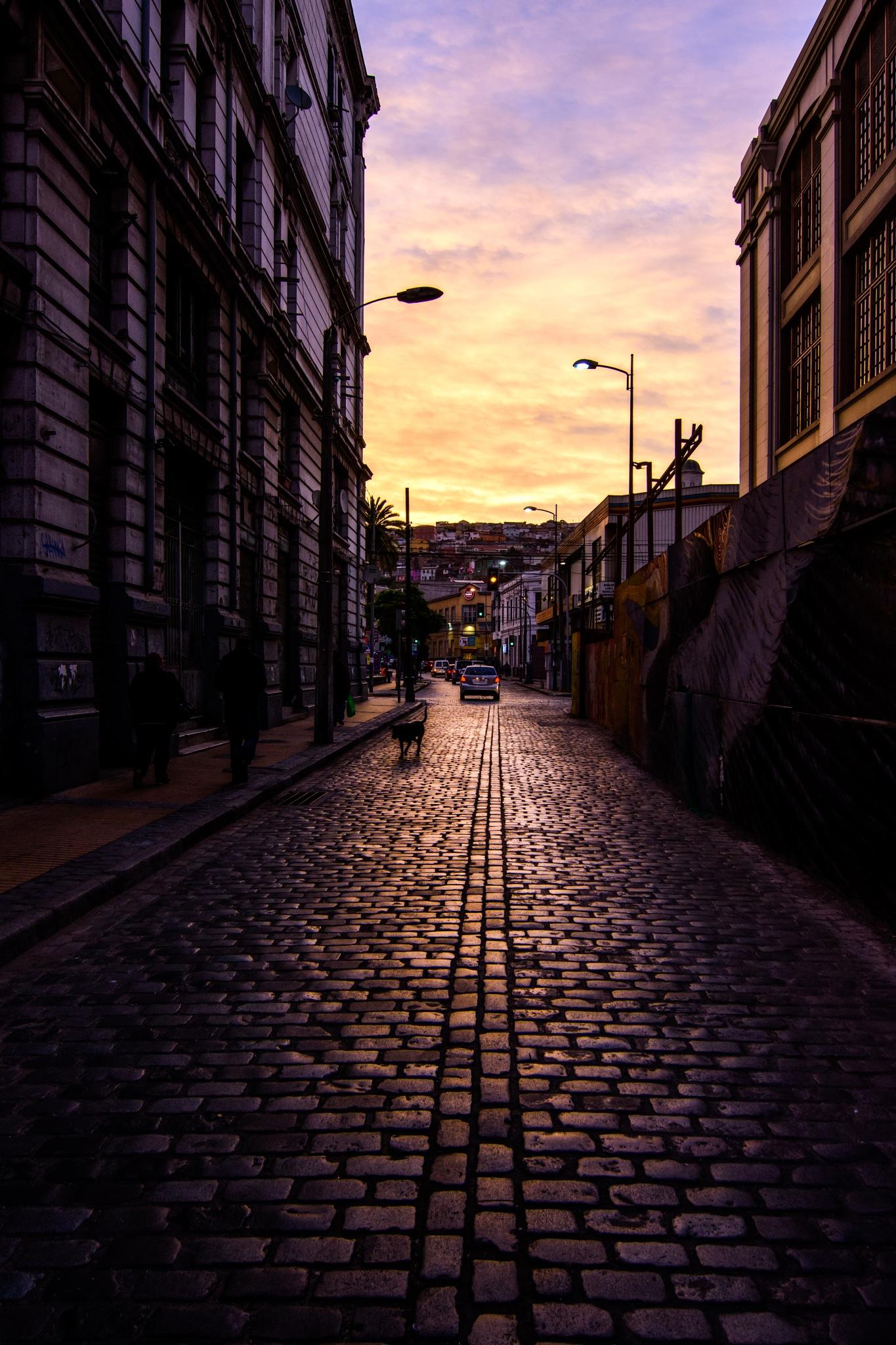 Valparaiso sunset by Michel Droguett C