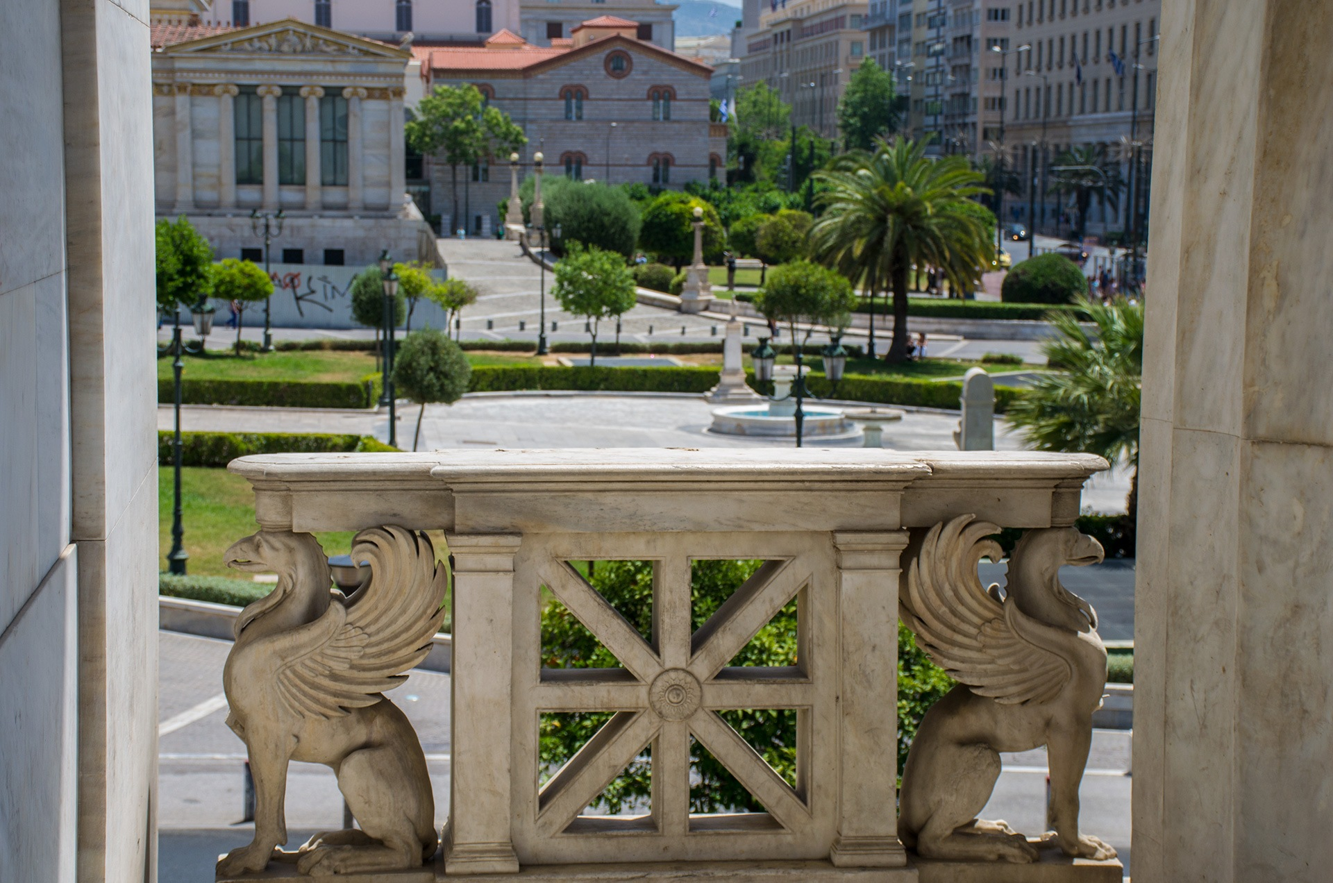 Athens, griffins by Alexandros C