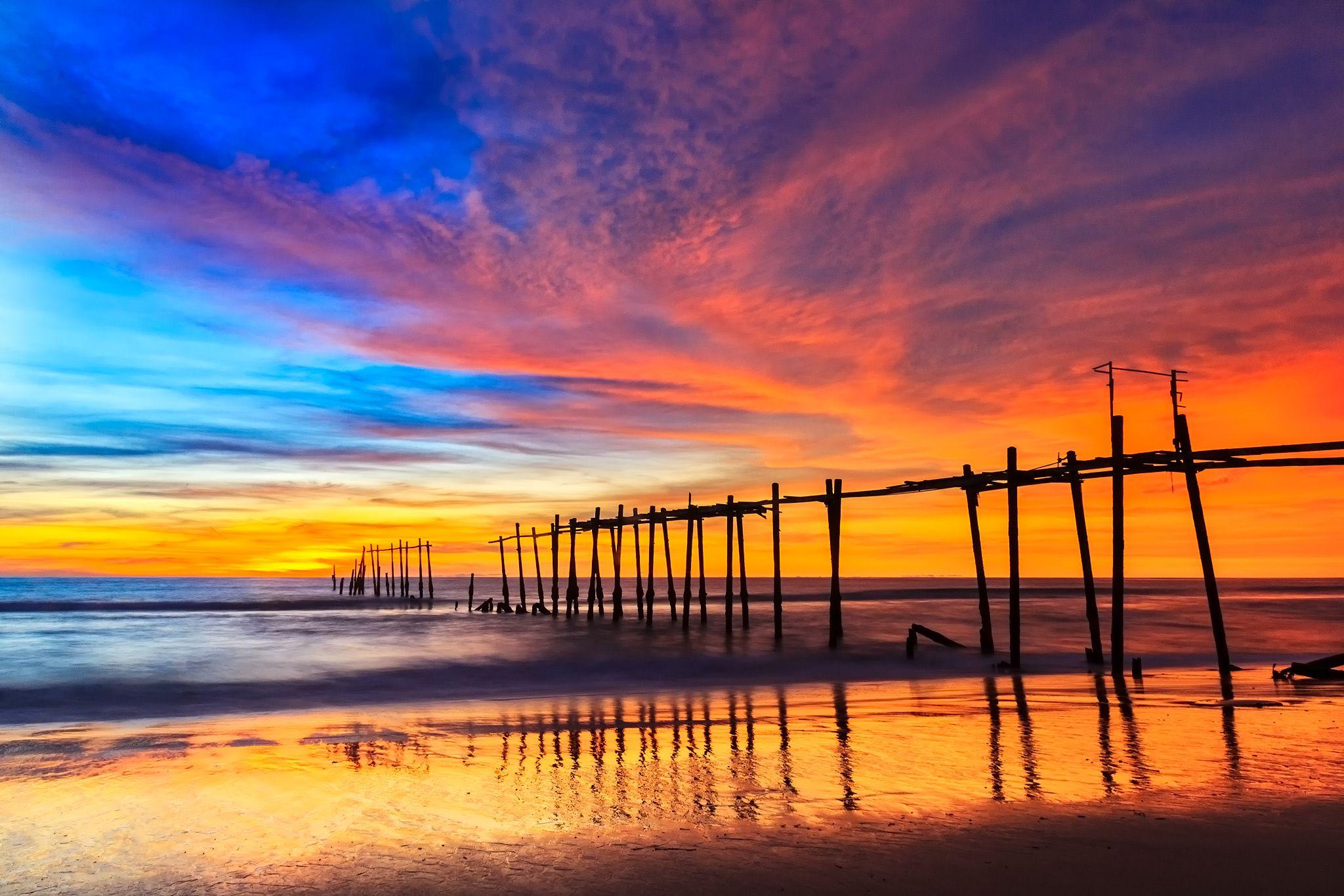 Old Bridge Pilai Beach Phang Nga Thailand by ichoo2000