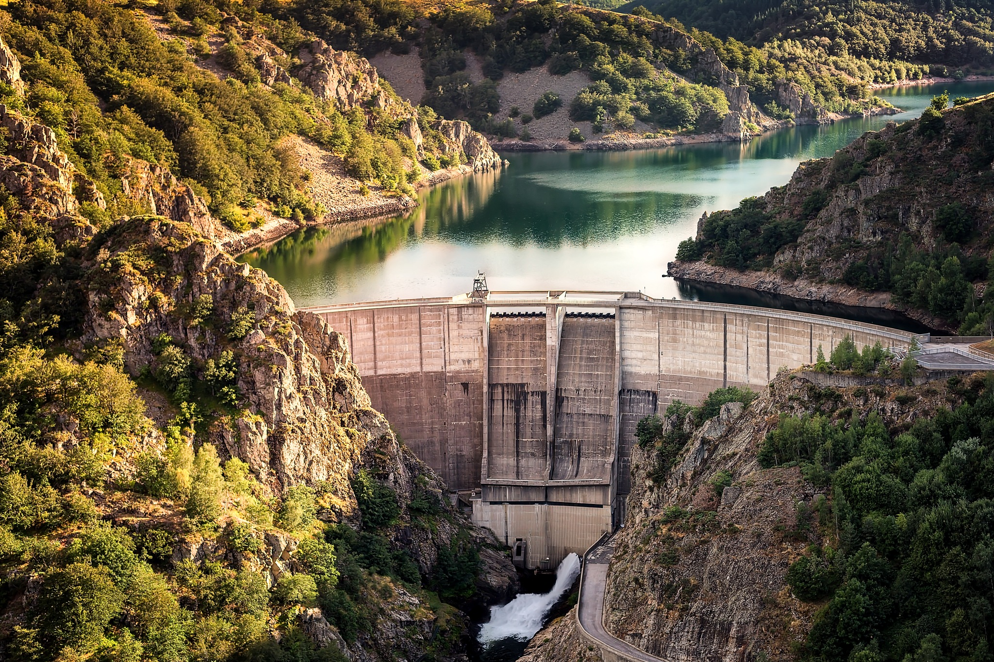 Hydroelectric dam by Chris Butler