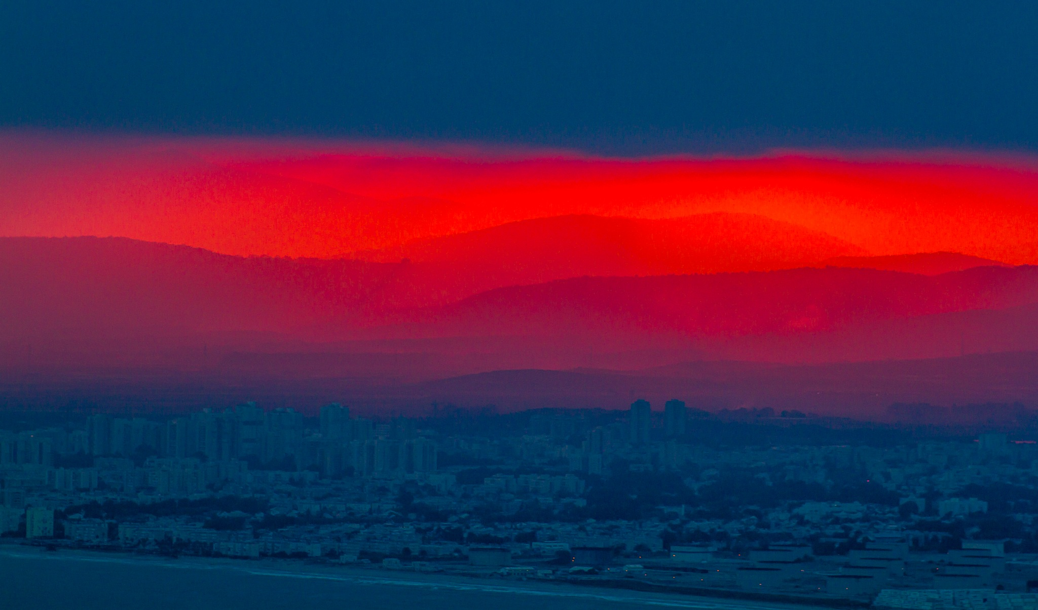 Sunrise in Haifa by benny_b