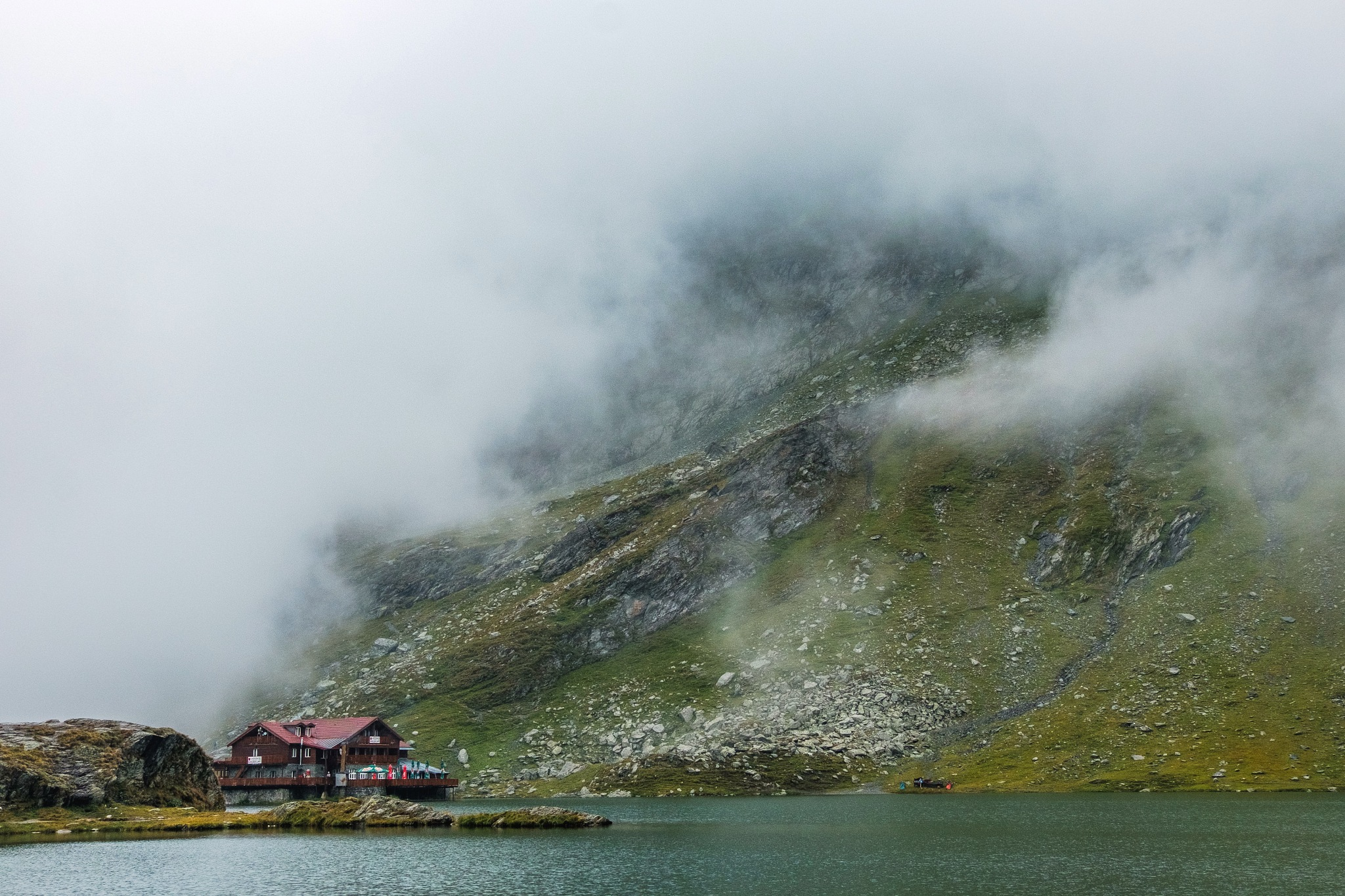 Balea Lake in the cloud by ilkensguntis