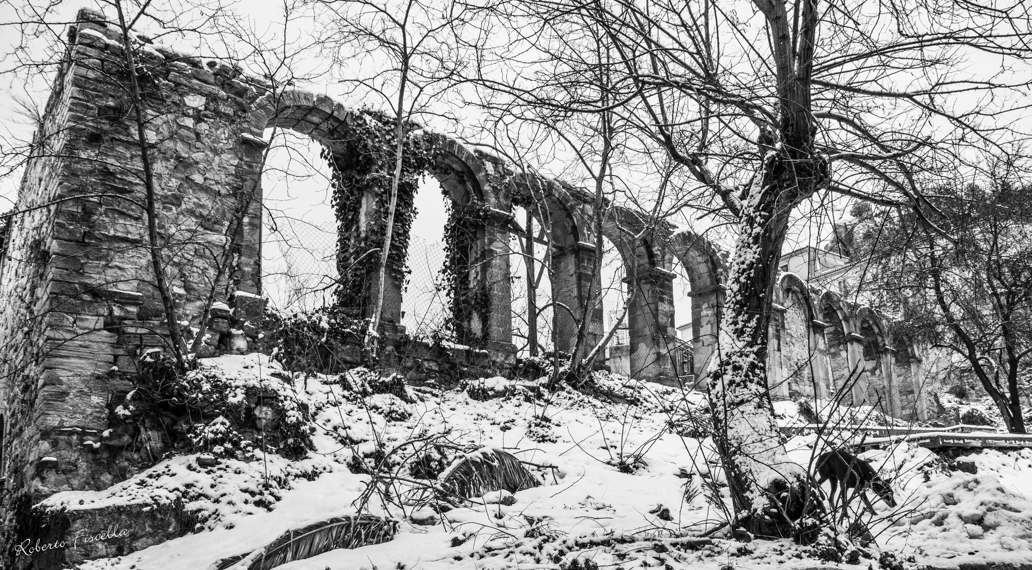 Le scuole vecchie sotto la neve... by Roberto Fiscella