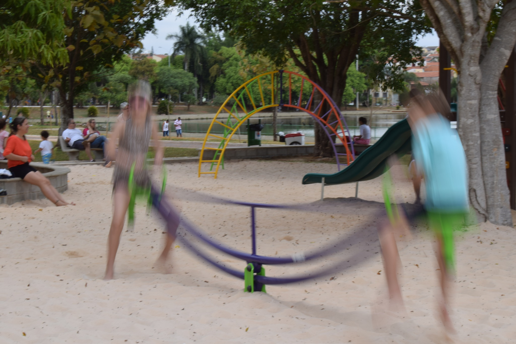 Ghost playing in the playground by Cambraia