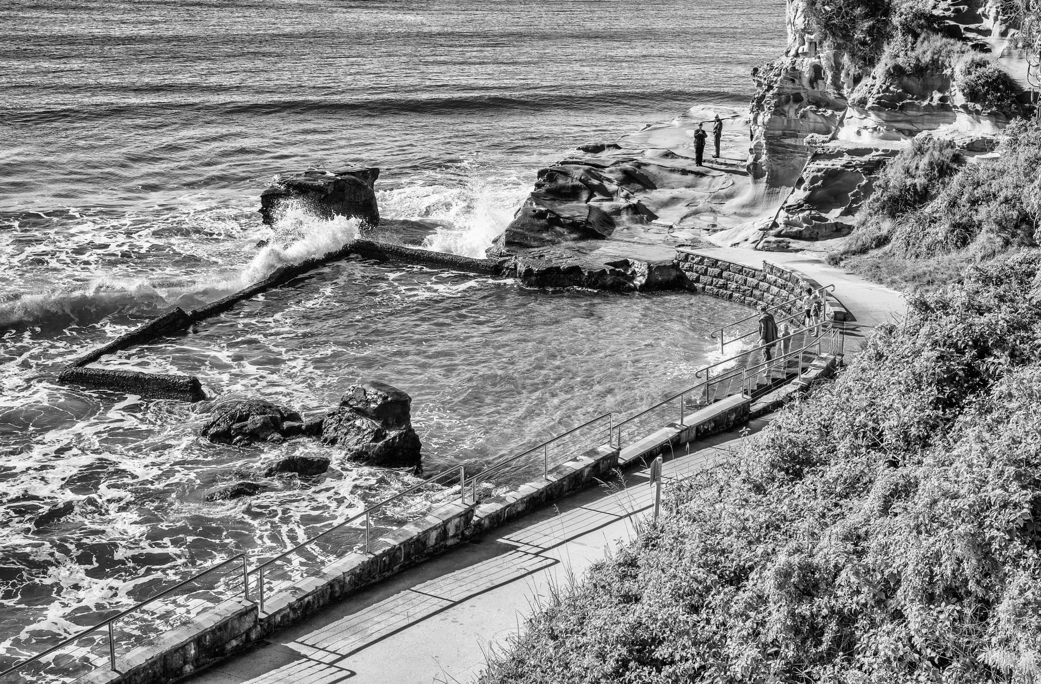 Sea Waves Swamp the Sea Baths by Paul Donohoe