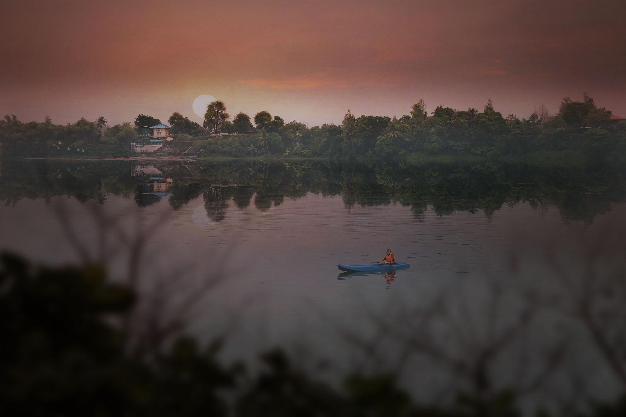 Kayaking in the Sunrise by Bernard Miranda