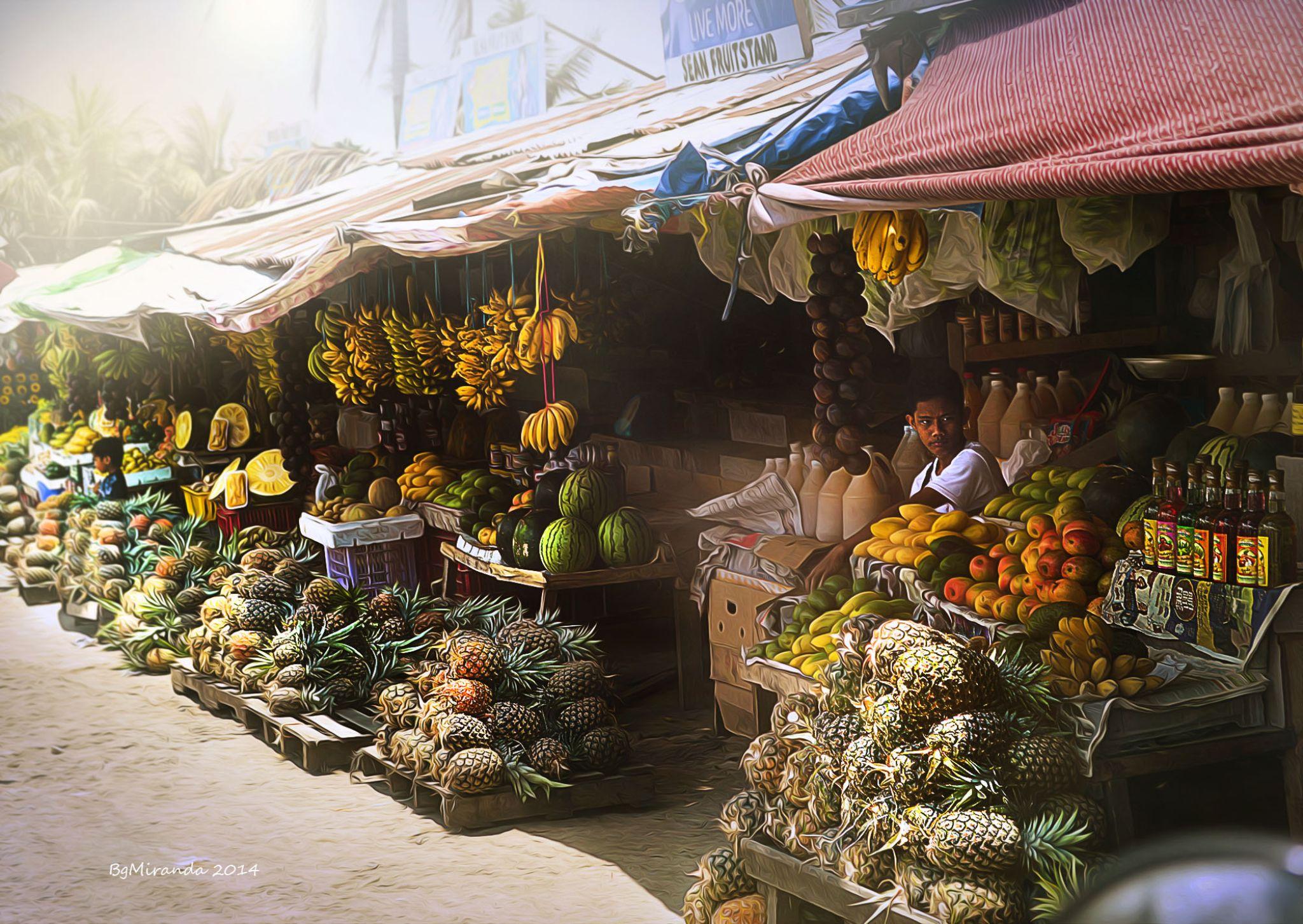 Fruit Vendor by Bernard Miranda