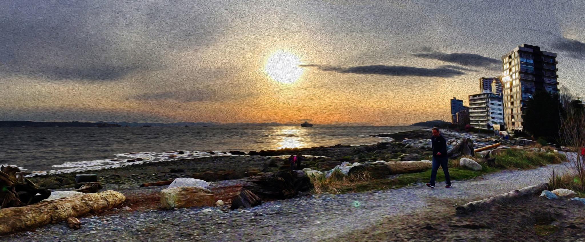 Waterfront Sunset by Donald Bruce Edward Wilson
