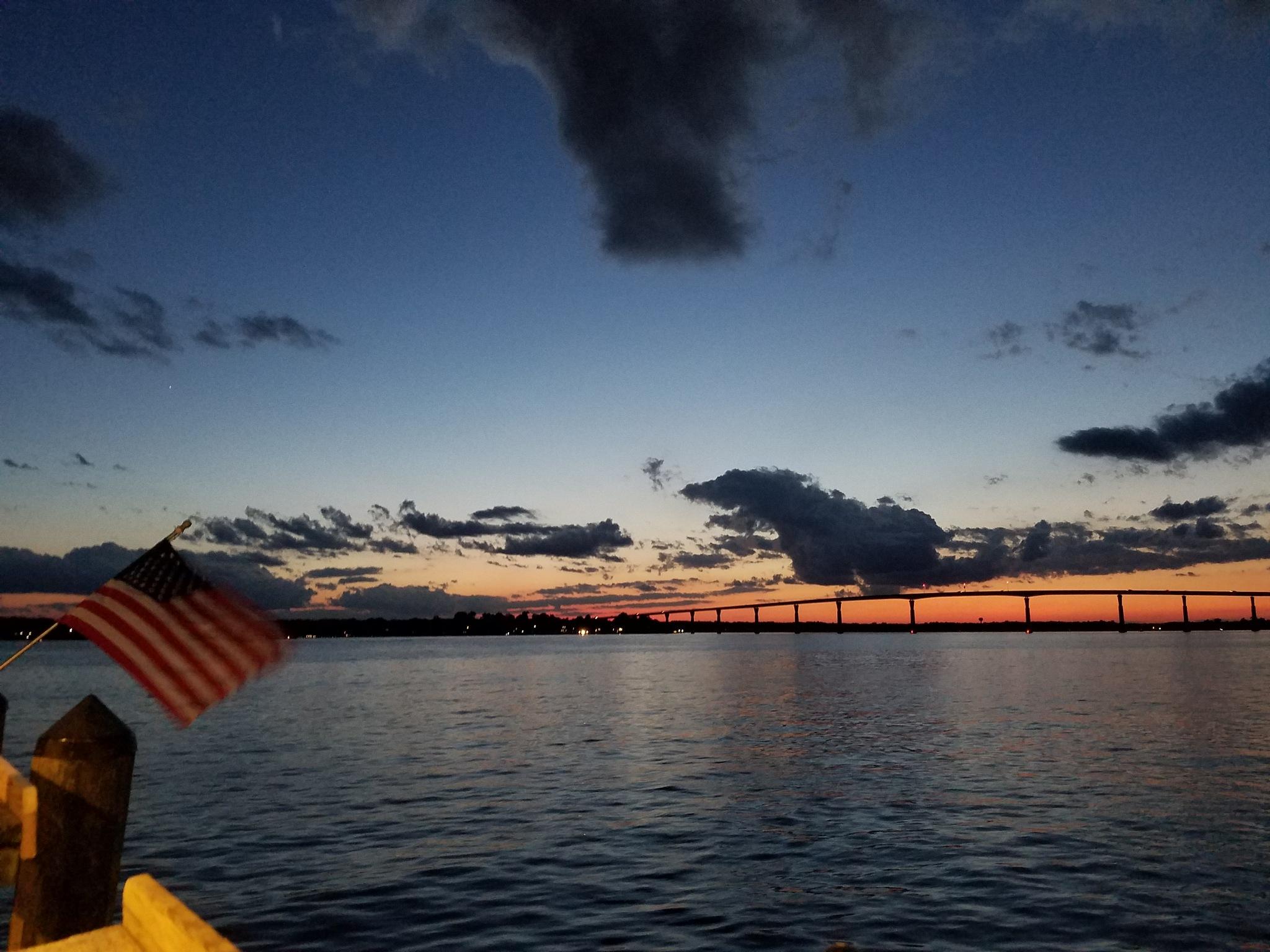 Sun below the horizon  by almablanca