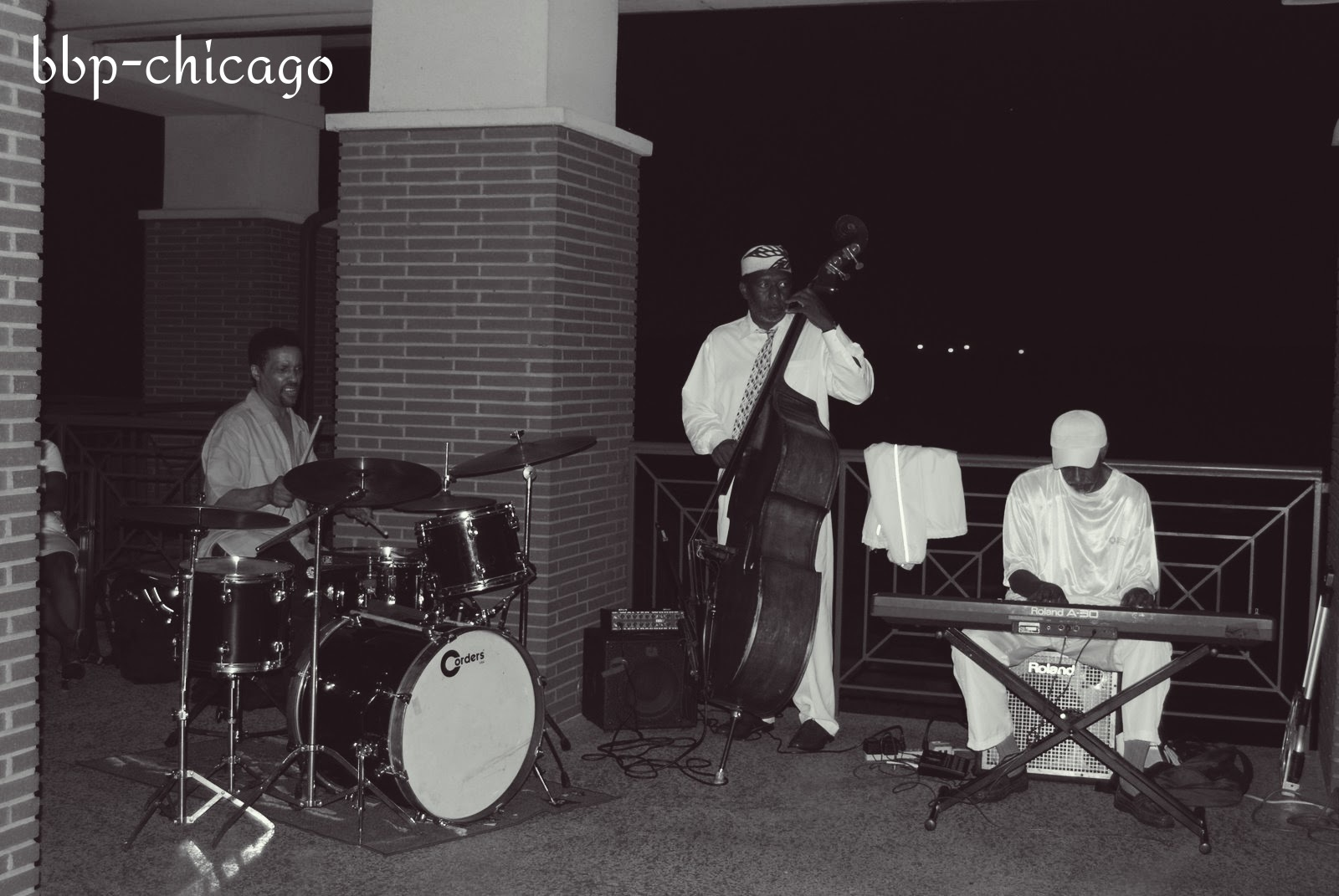 Jazz Trio on the Terrace by Michele