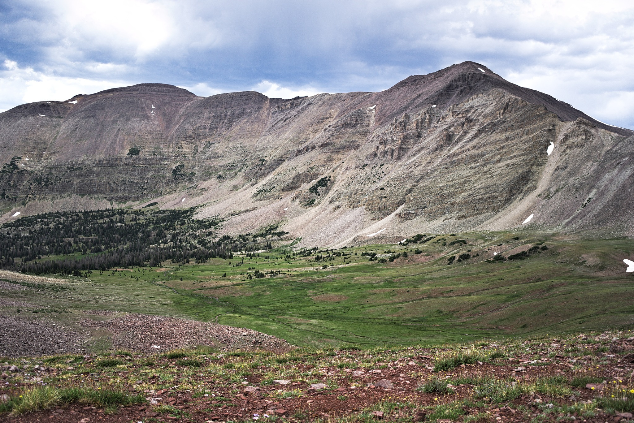 Red Knob Pass in the High Uintas by Bret Little