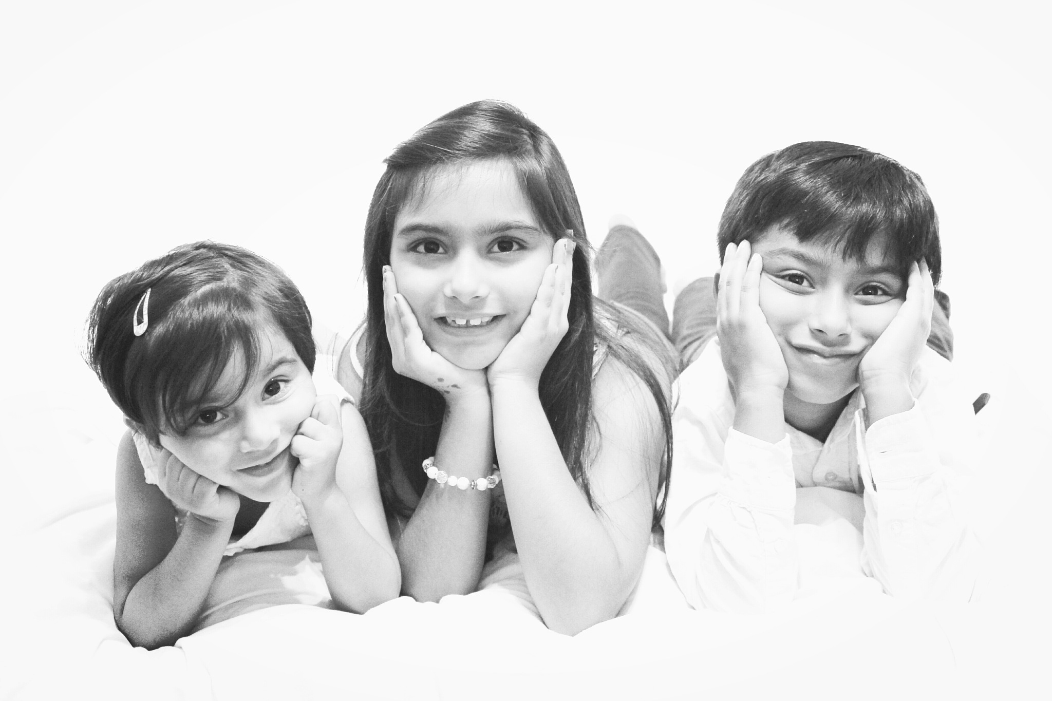 My three litle cousins by Rohal Aliee