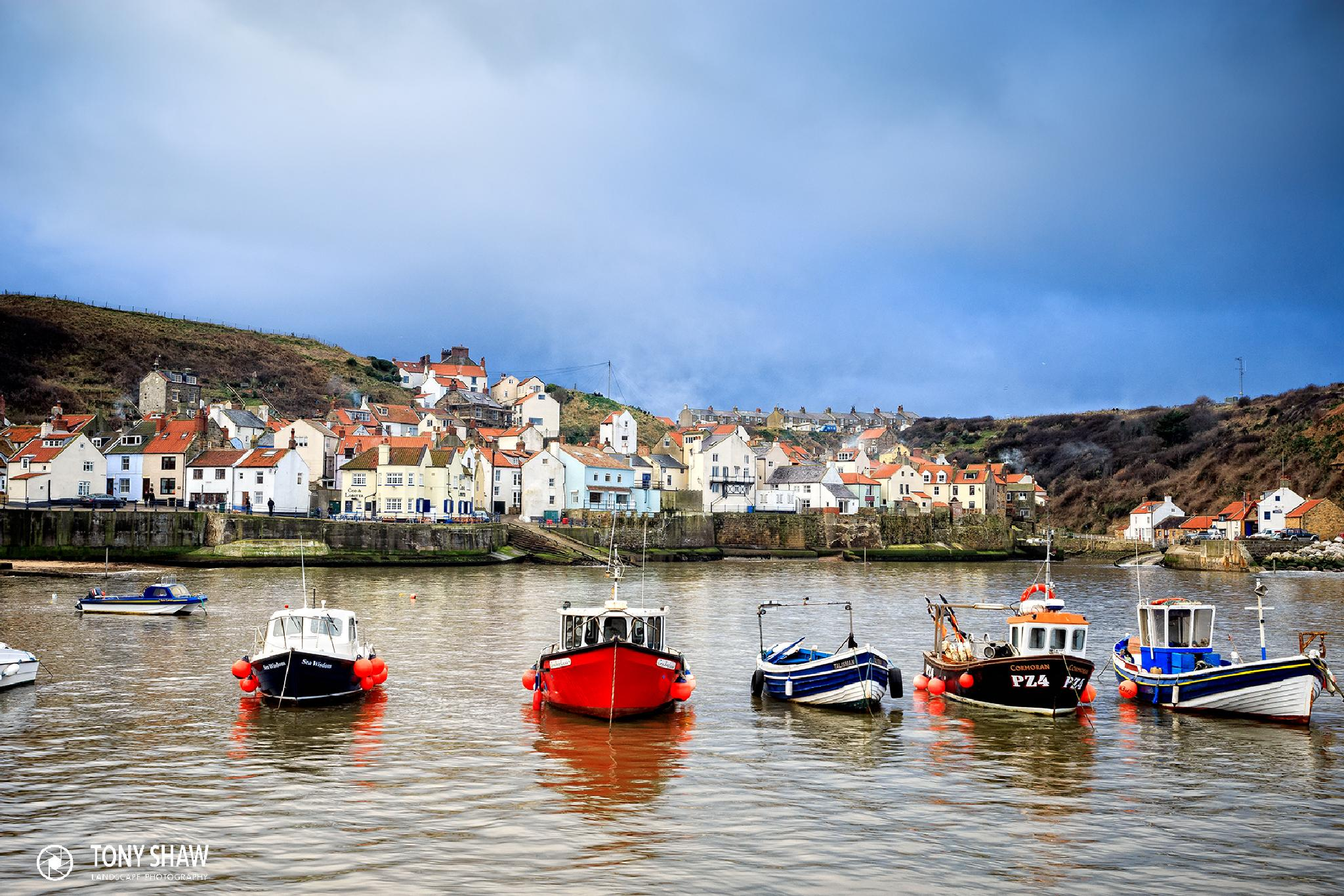 Staithes Fishing Boats by Tony Shaw