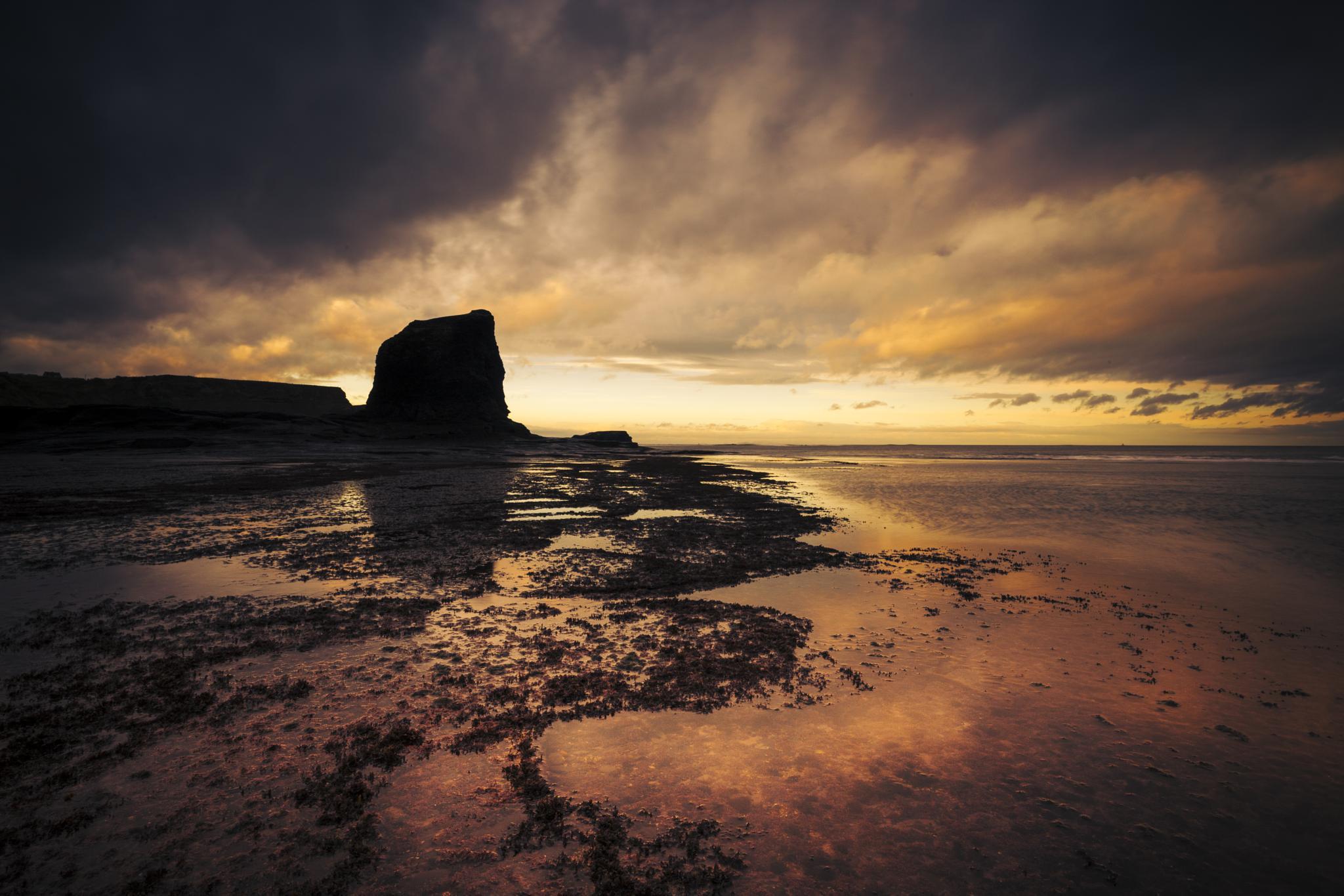 Sunset and Black Nab by Tony Shaw