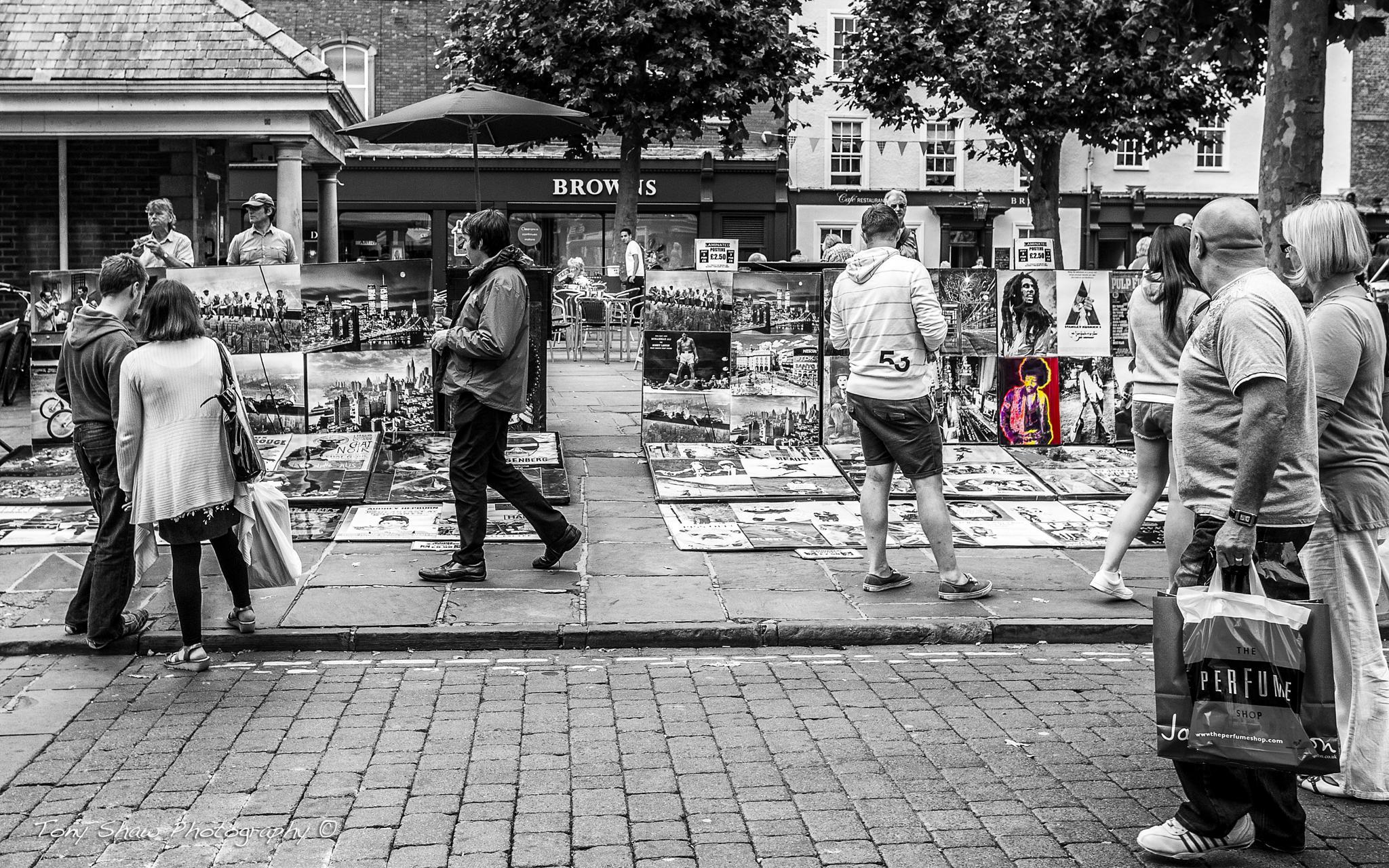 Street traders by Tony Shaw