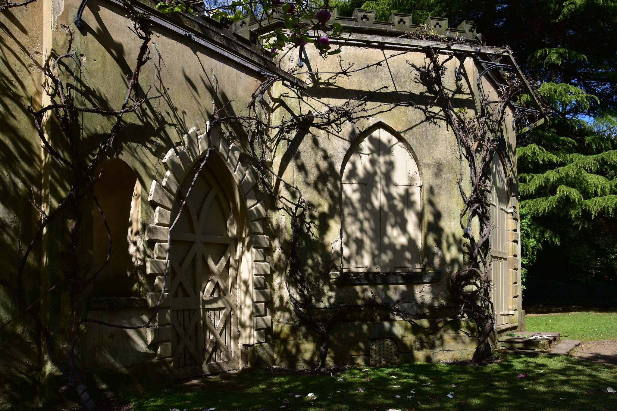 April late afternoon shadows. The Gothic Menagerie, Nostell Priory, UK. by Ron Thornton
