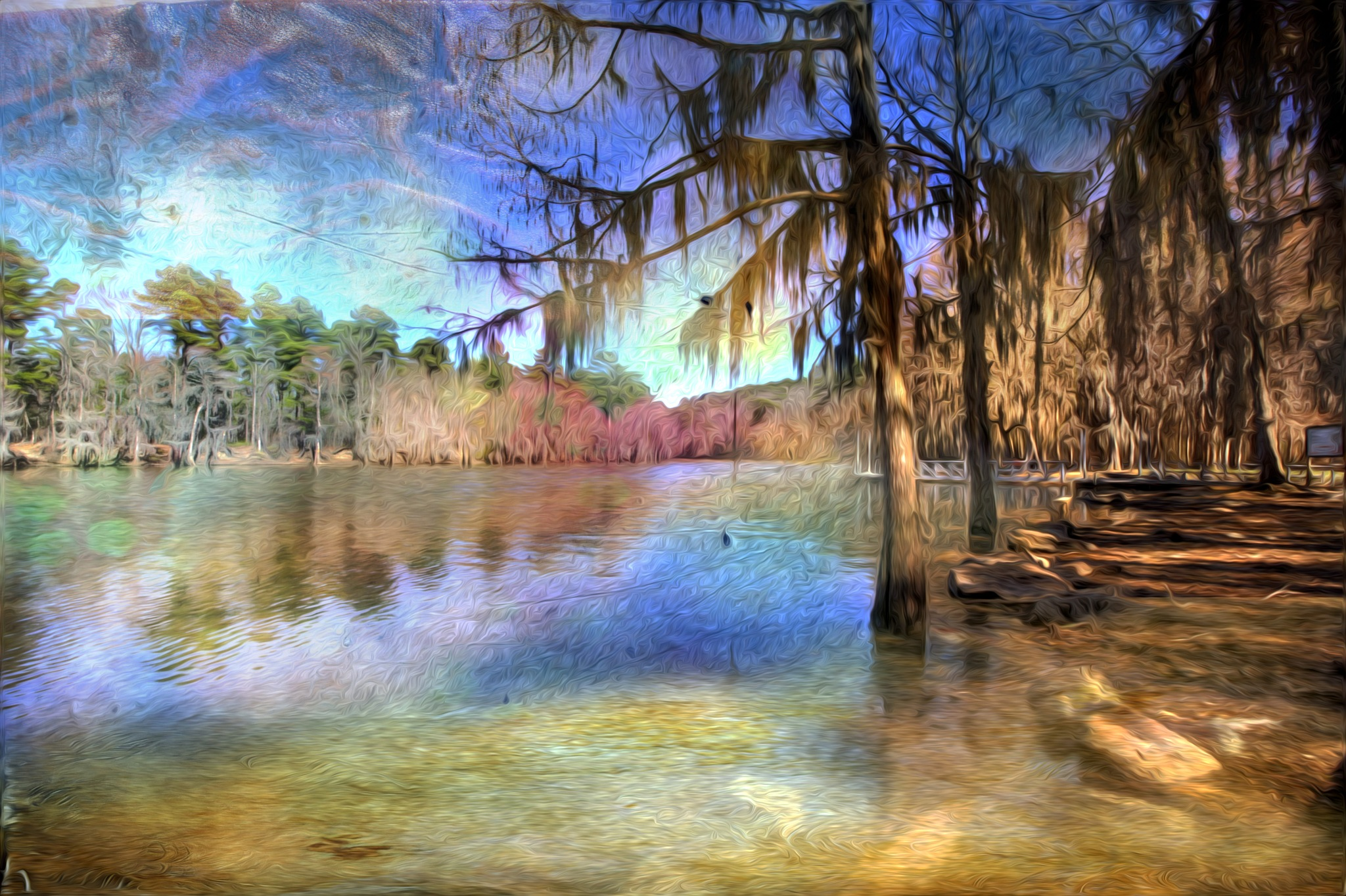 Painted Caddo Lake by kstand
