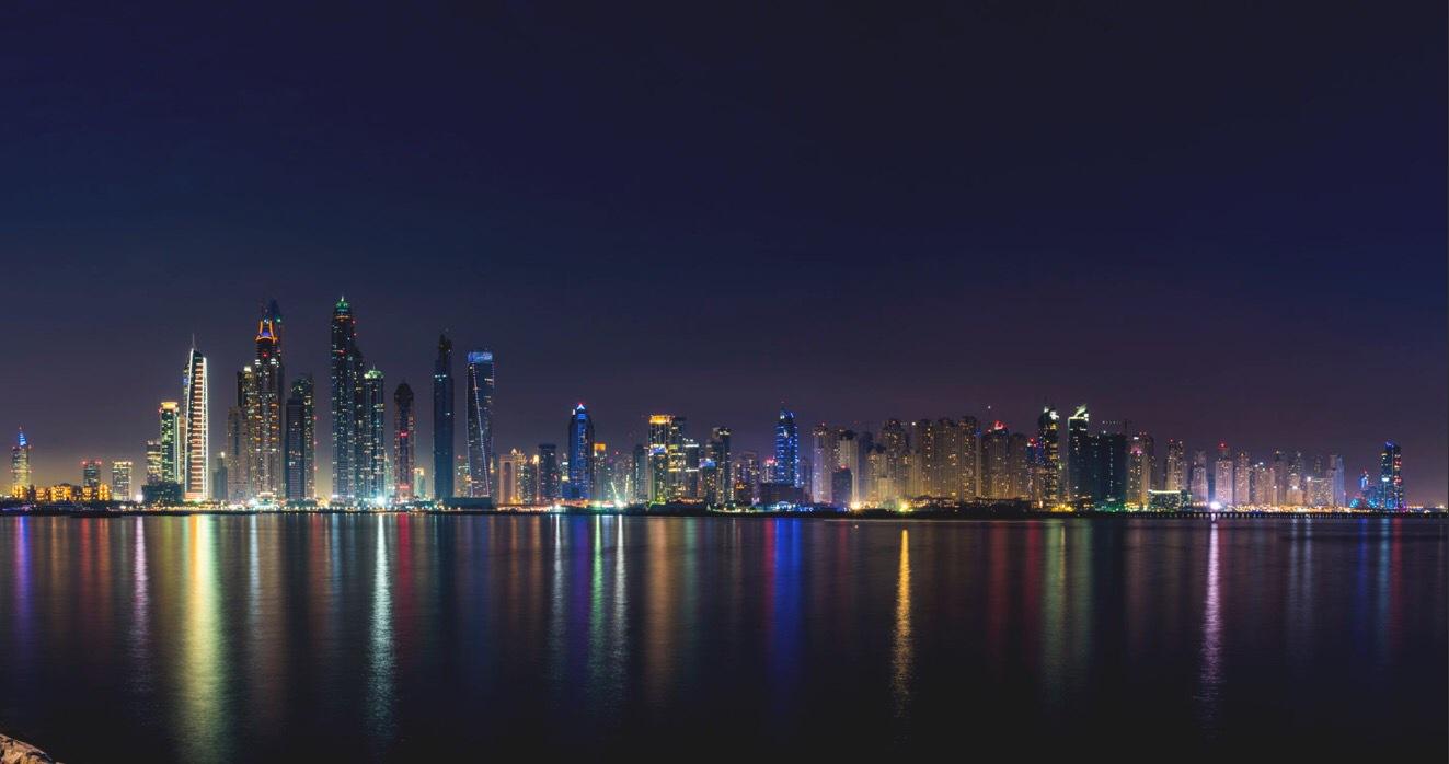 Dubai Marina skyline  by Muhammad Al-Qatam