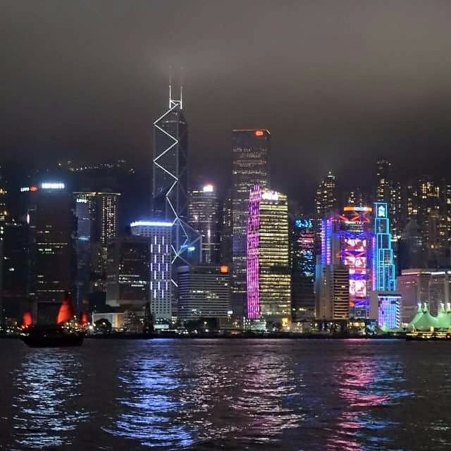 Hong Kong City of Lights by Veronica Brown