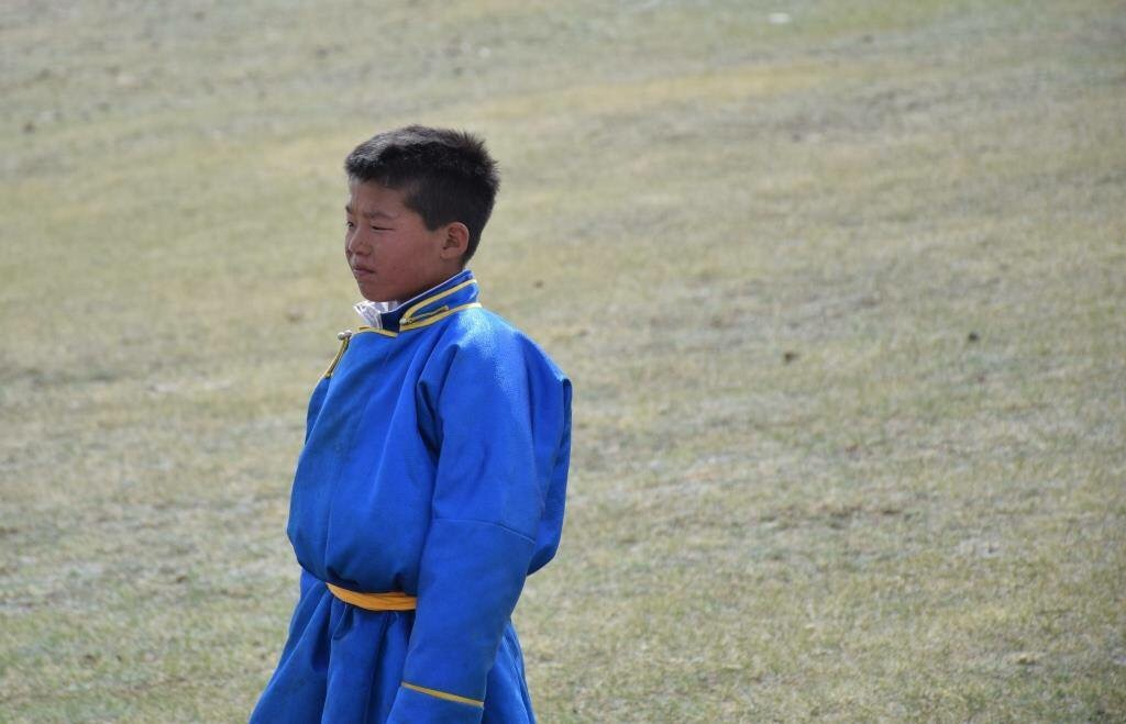 Junior Mongolia Horse Jockey by Veronica Brown