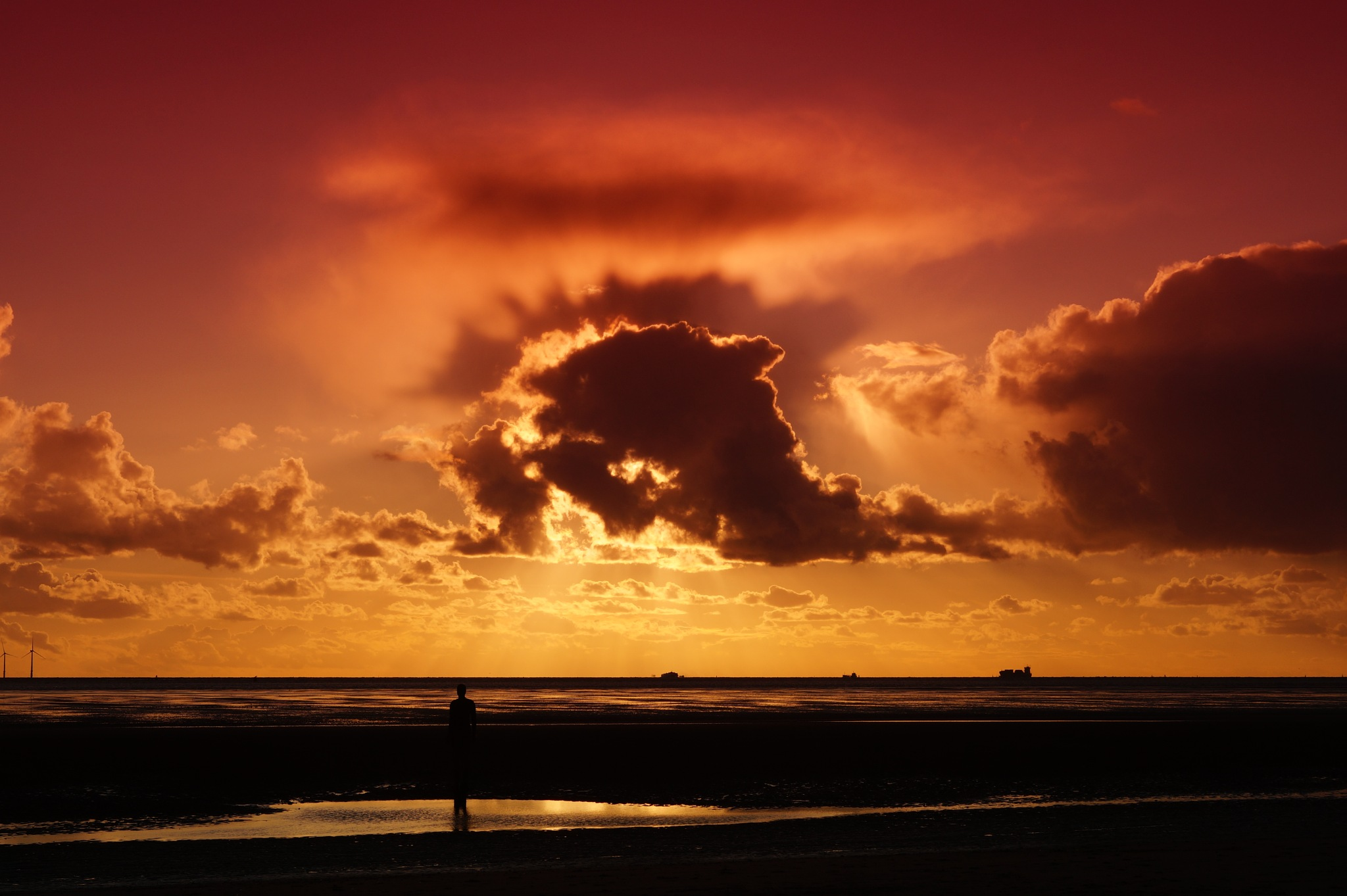 Waterloo sunset with dolphin cloud by Steve Smith