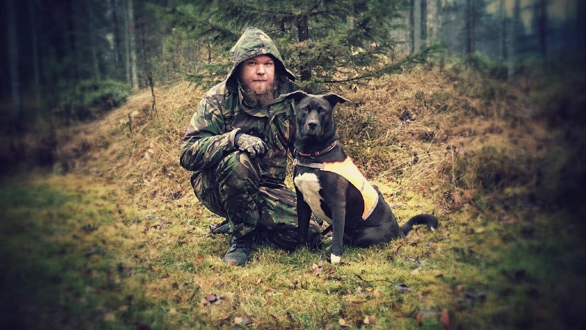 Me and my dog Hobo by Jesse Koukku