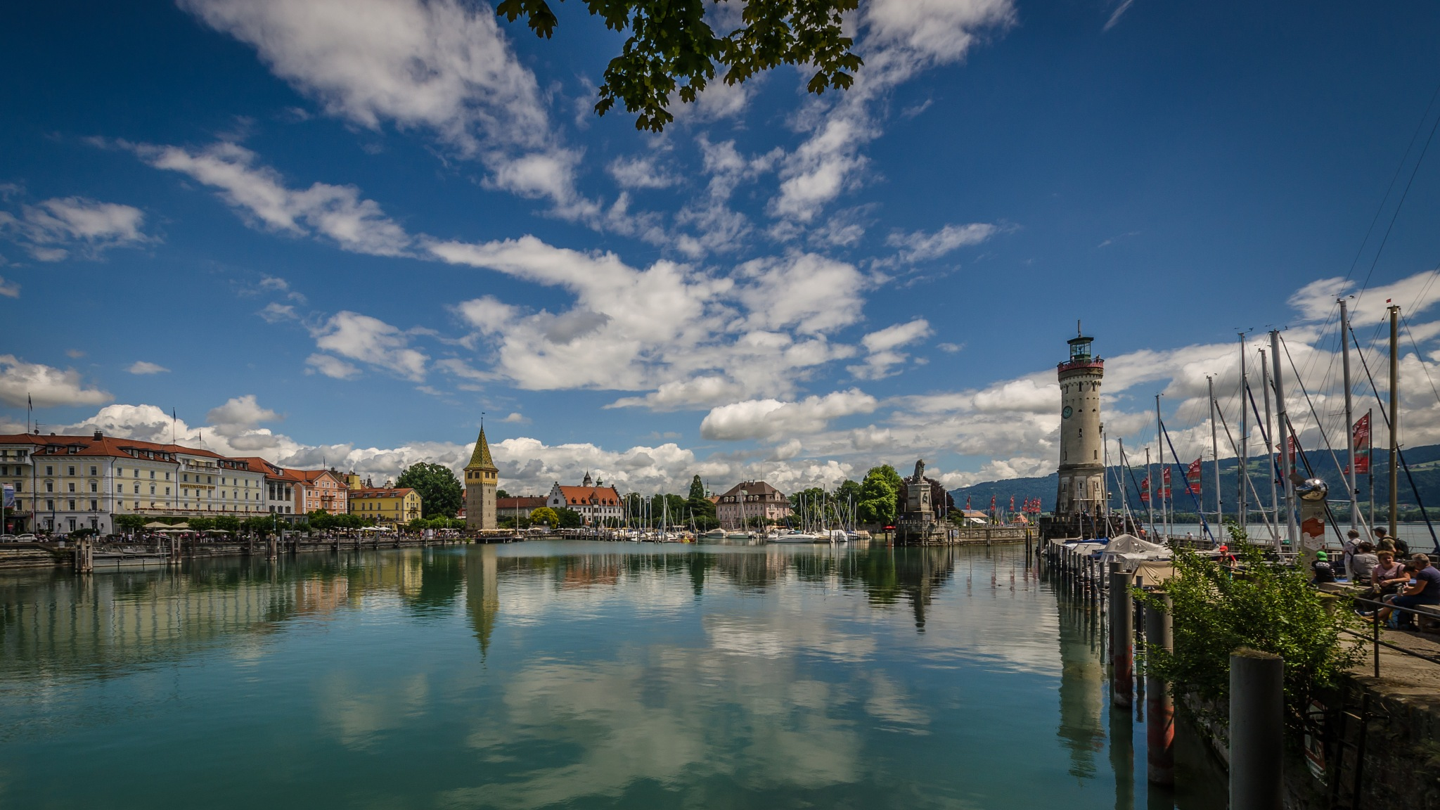 Harbour - Lindau Lake Constance by Peter Müller