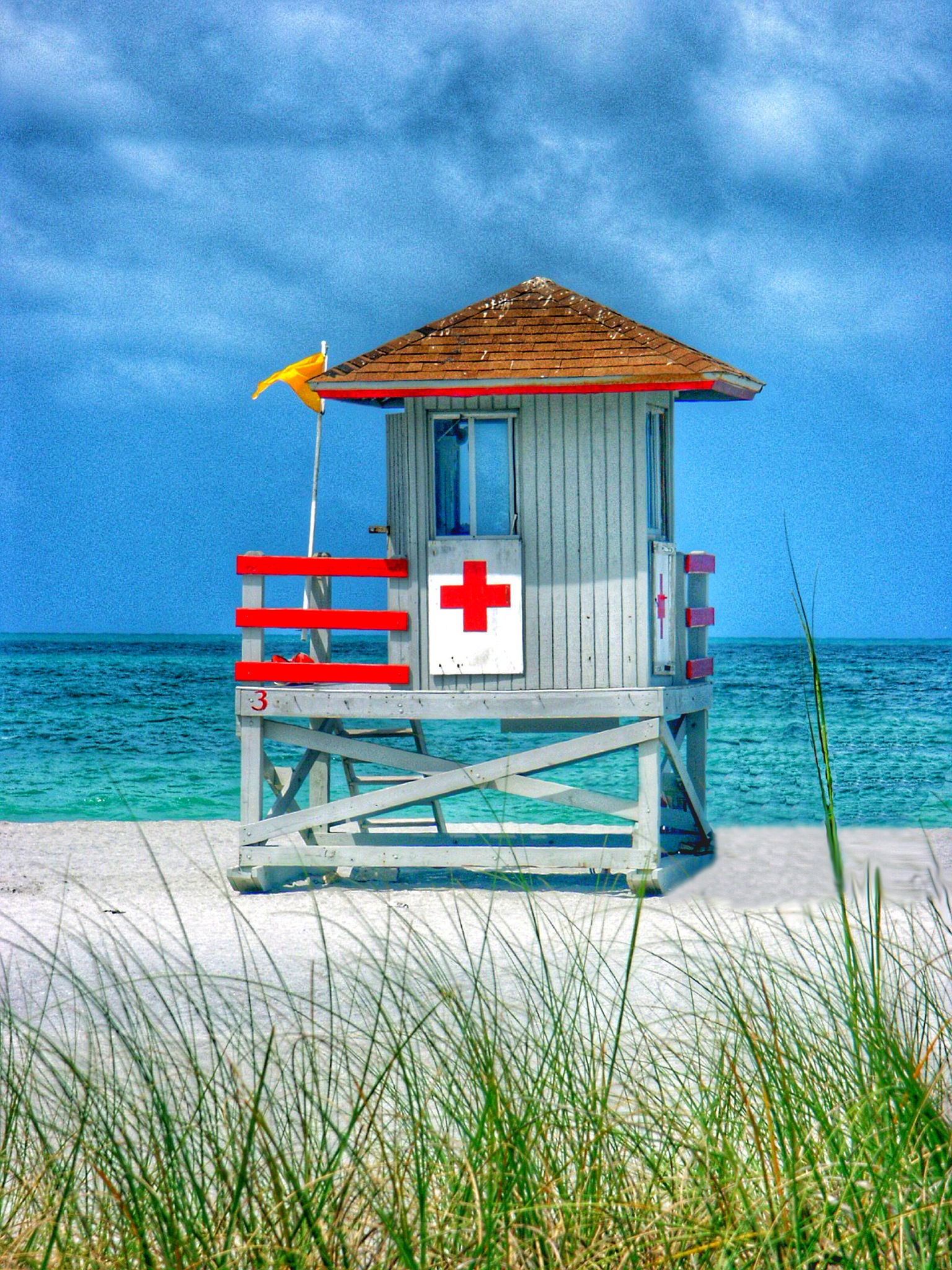 Lifeguard Hut Close-Up HDR by Stuart Rosenthal