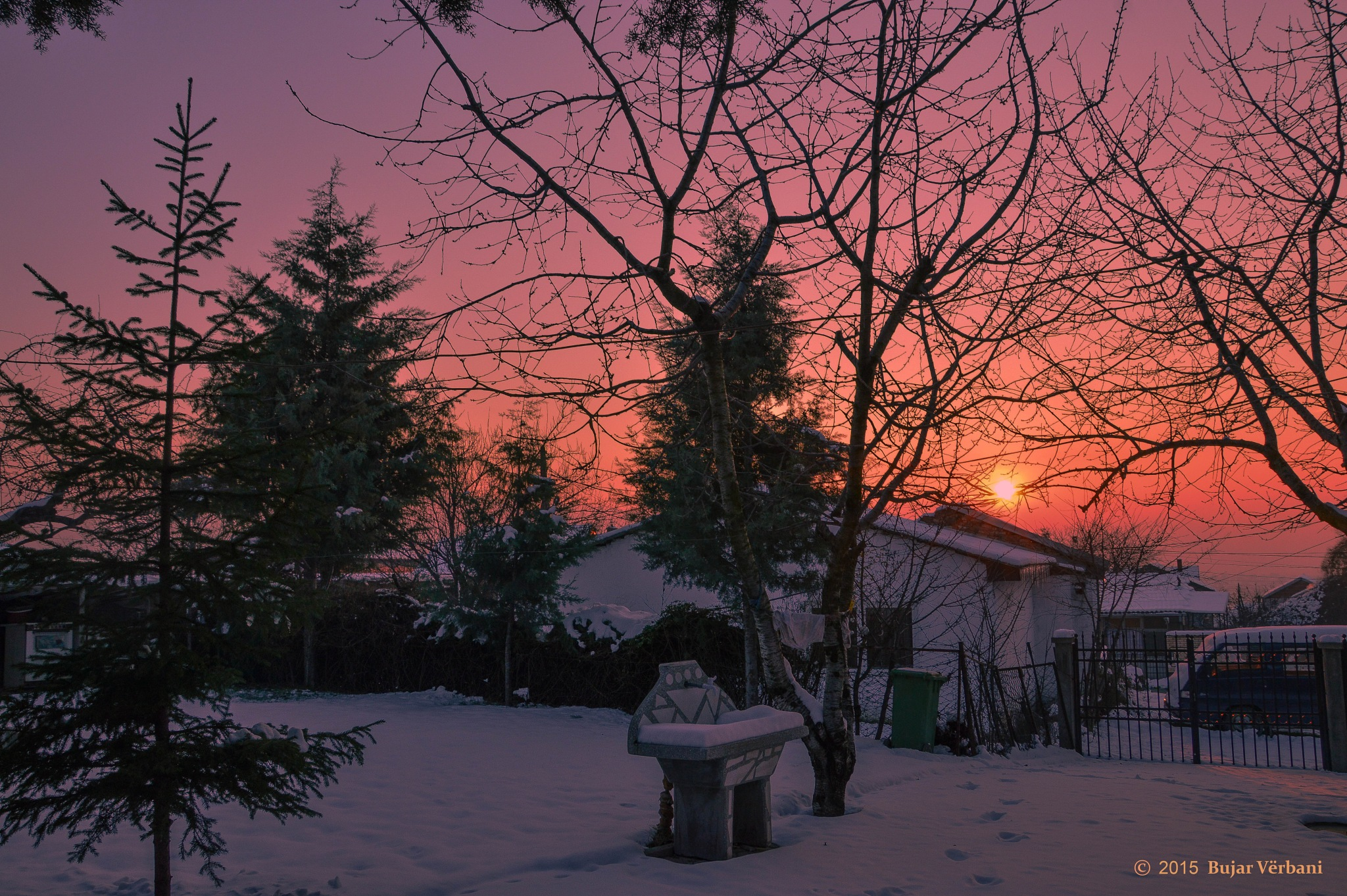 Sunset  in Winter by Bujar Vërbani
