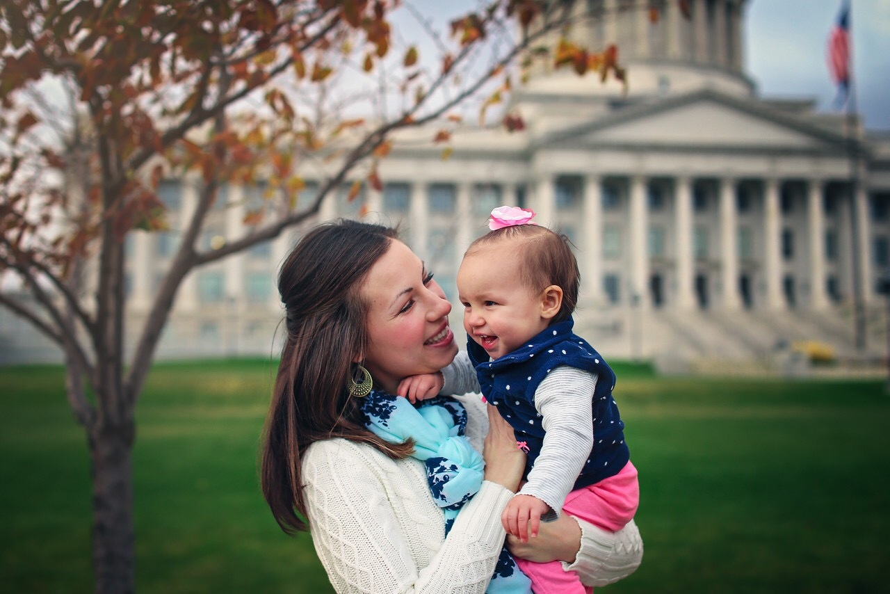 Mother daughter, Utah state capital  by Tim Hansen