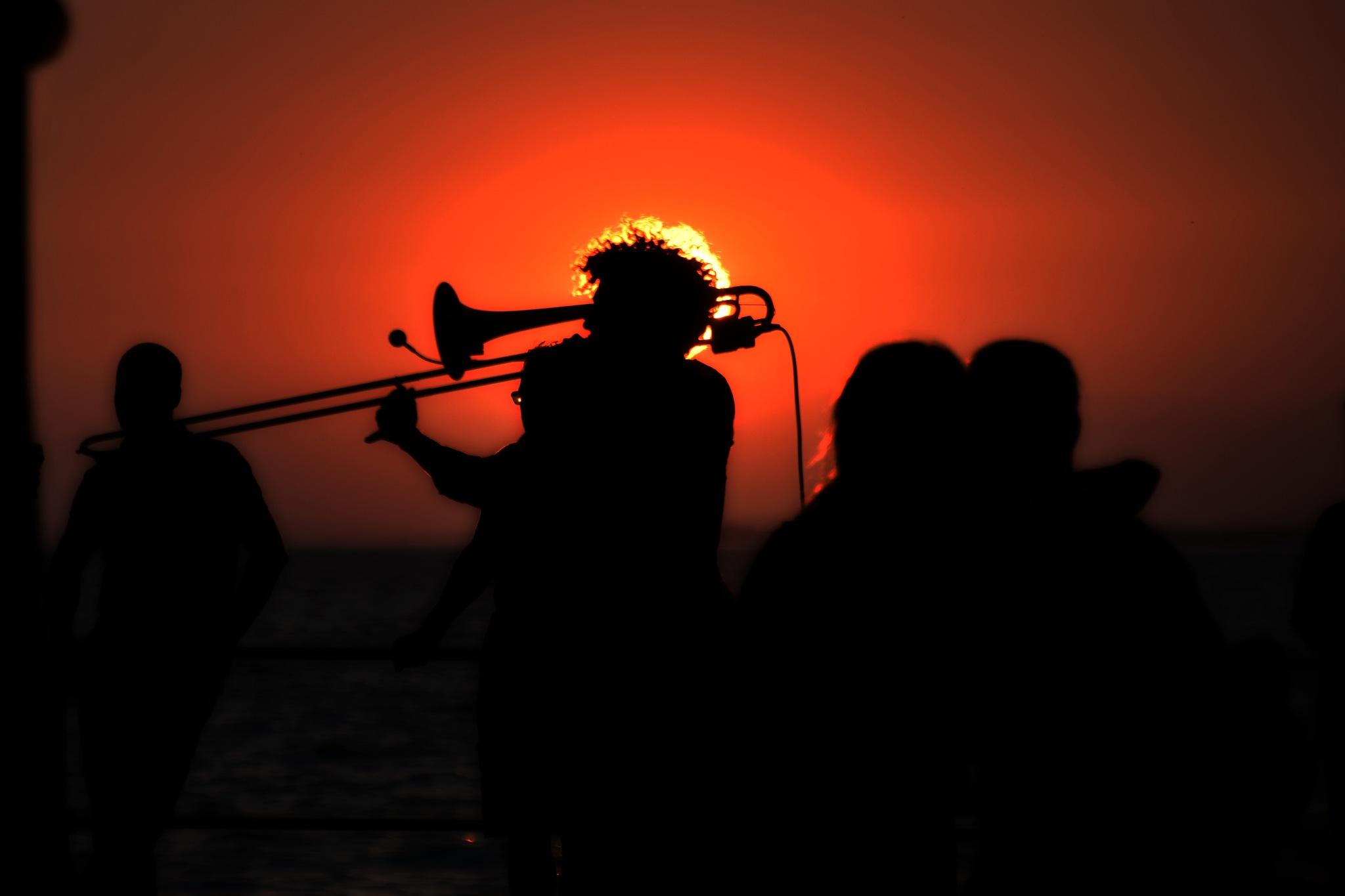 Trumpet man by chrisbitschnau