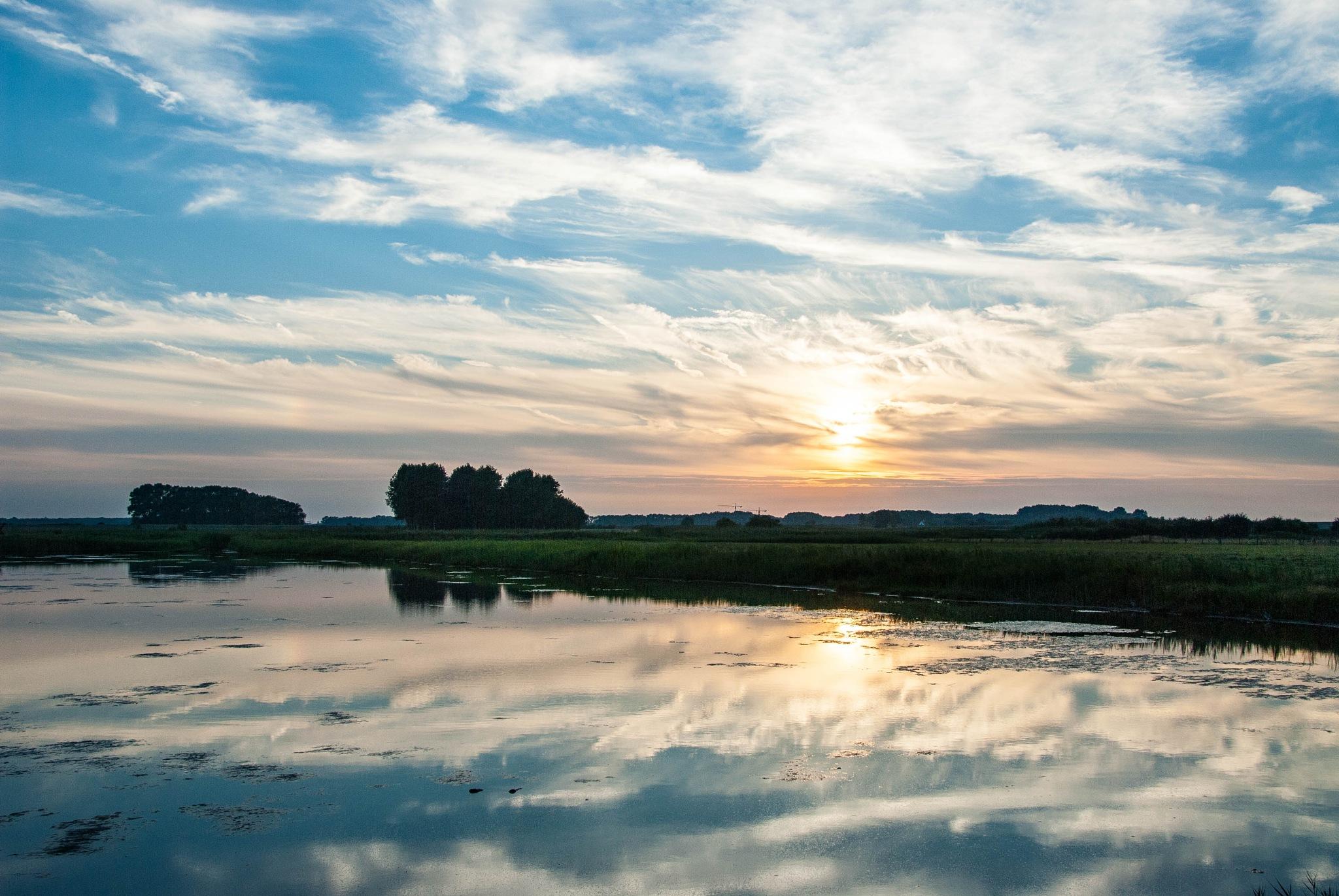 Sunset, Retranchement by Ruud van Leeuwen