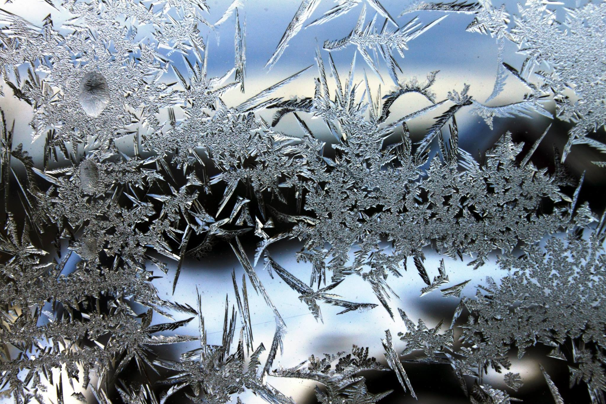 brrrou............ c'est froid ; Frost on the window by .