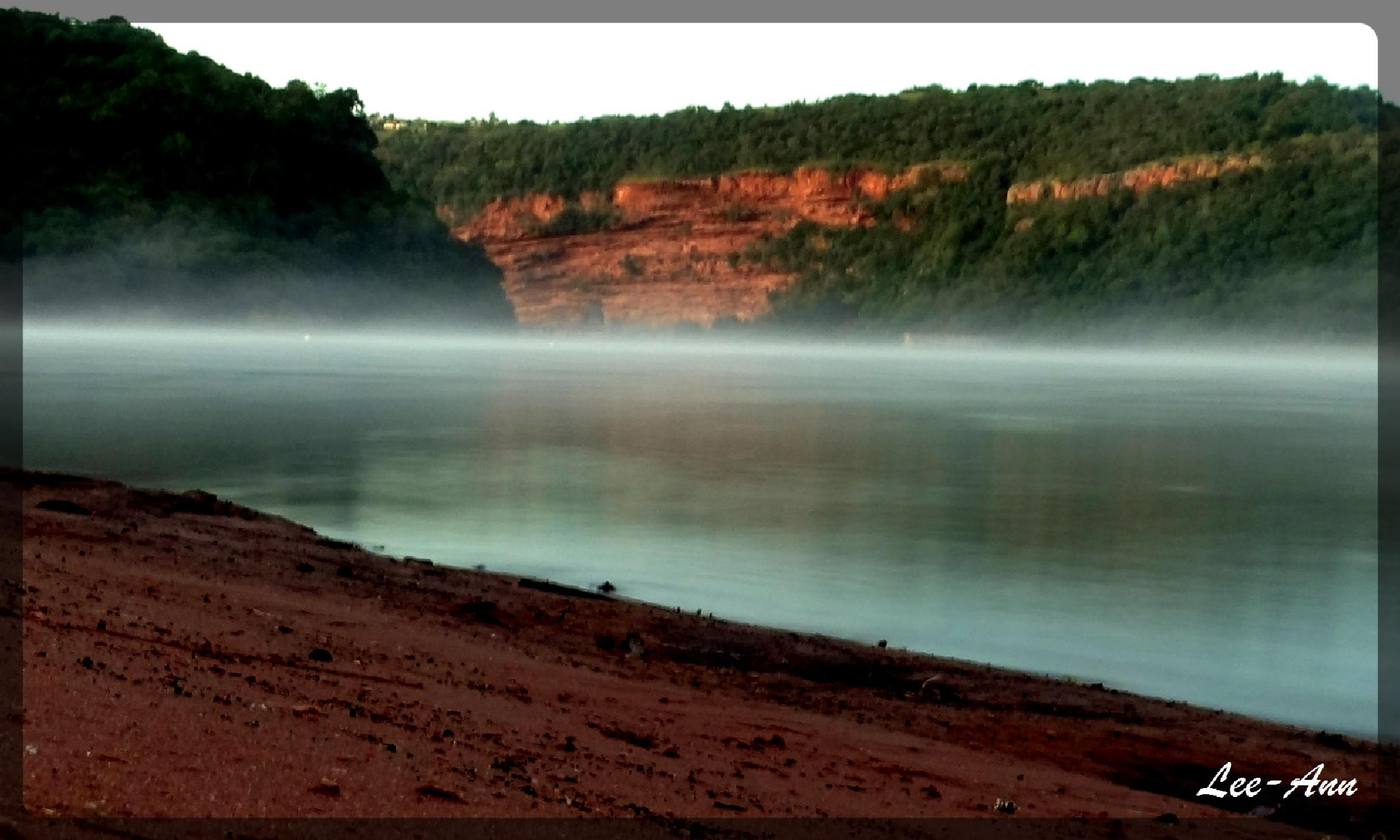 Shongweni Dam -  mist at sunrise by Lee-Ann Conway