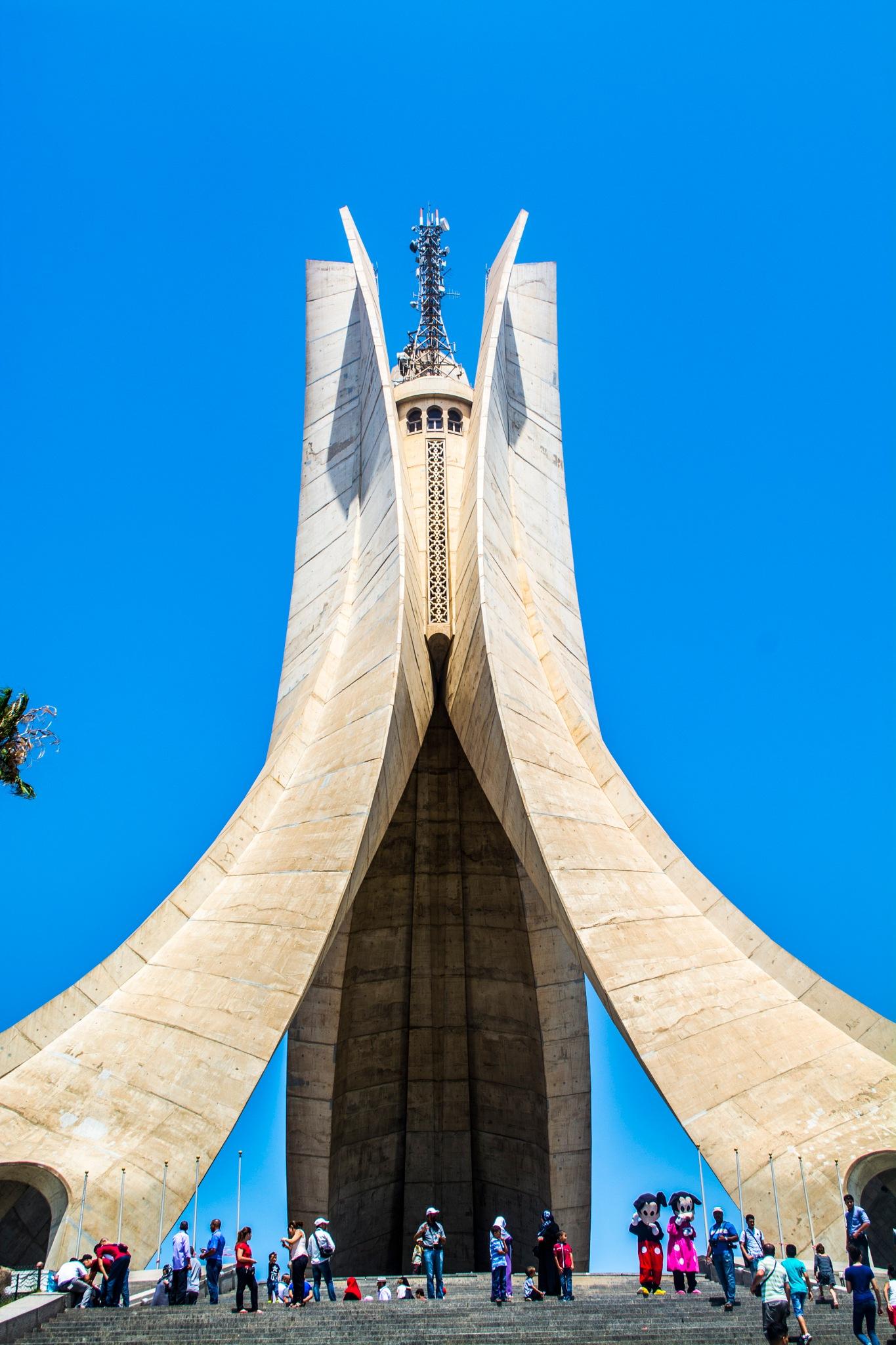 The shrine of the martyr   Makkam Echahid   Algiers by Ali Meddah