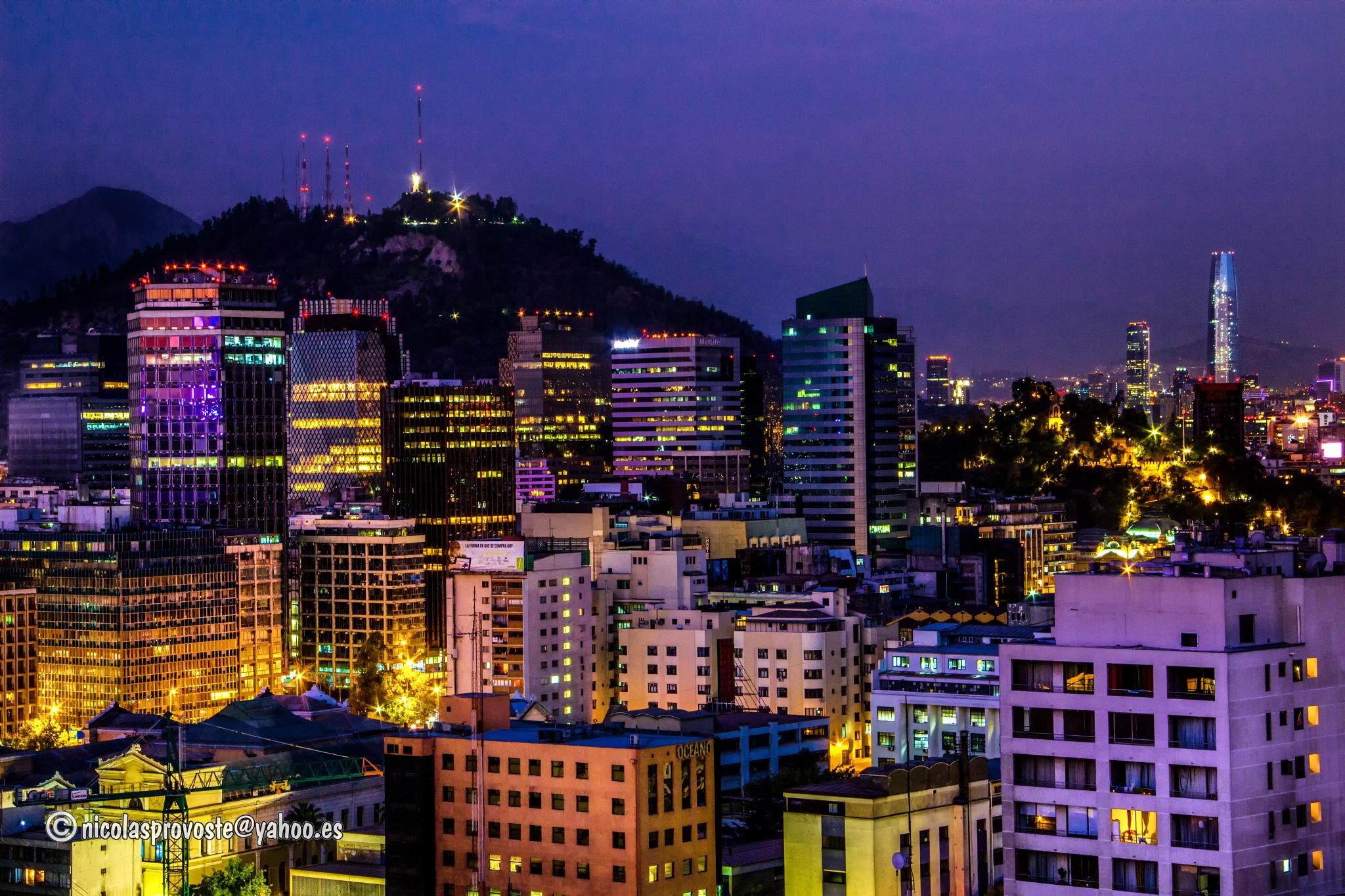 Santiago nocturno by nicolasprovoste