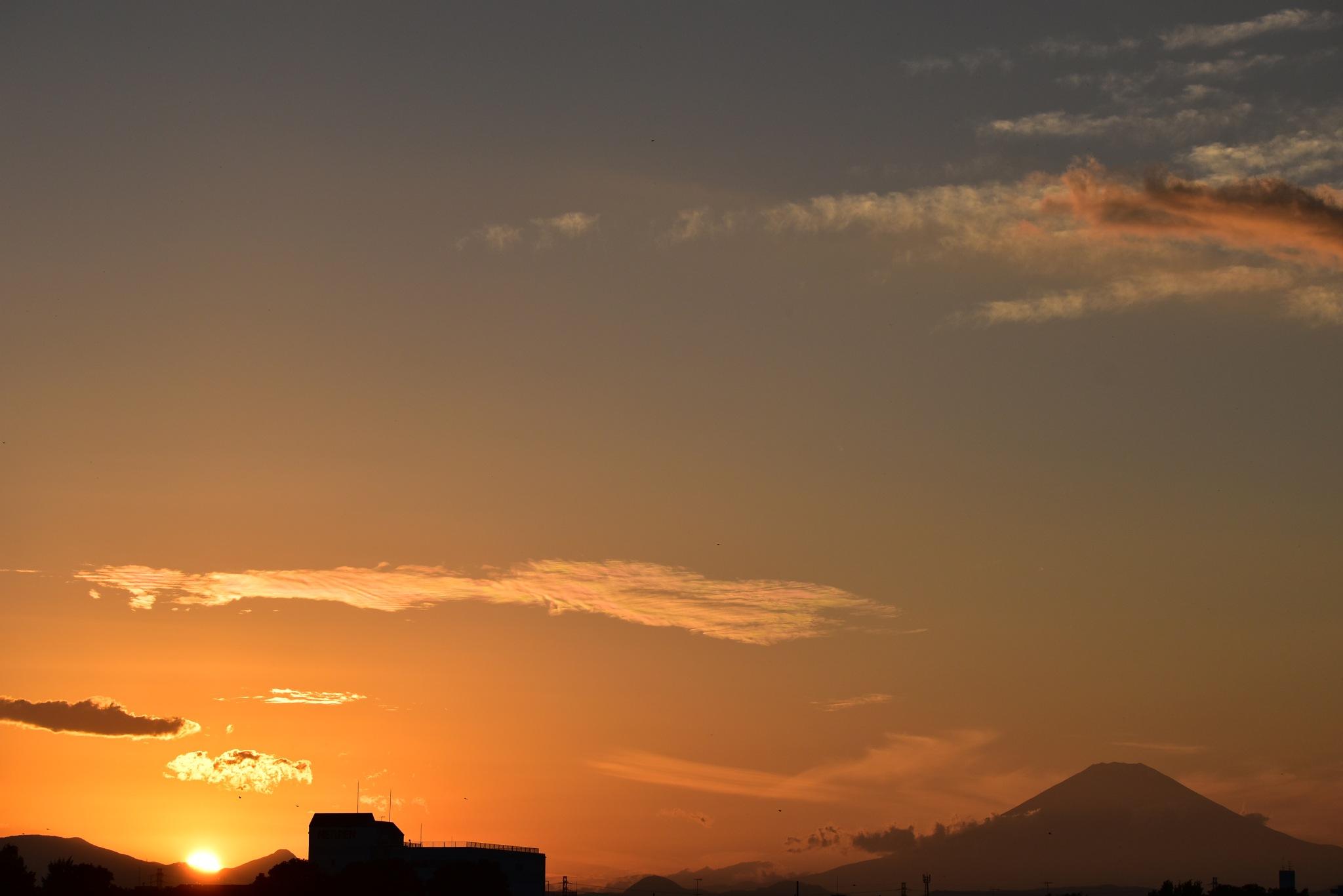 夕焼け富士山 by kumikoxinye