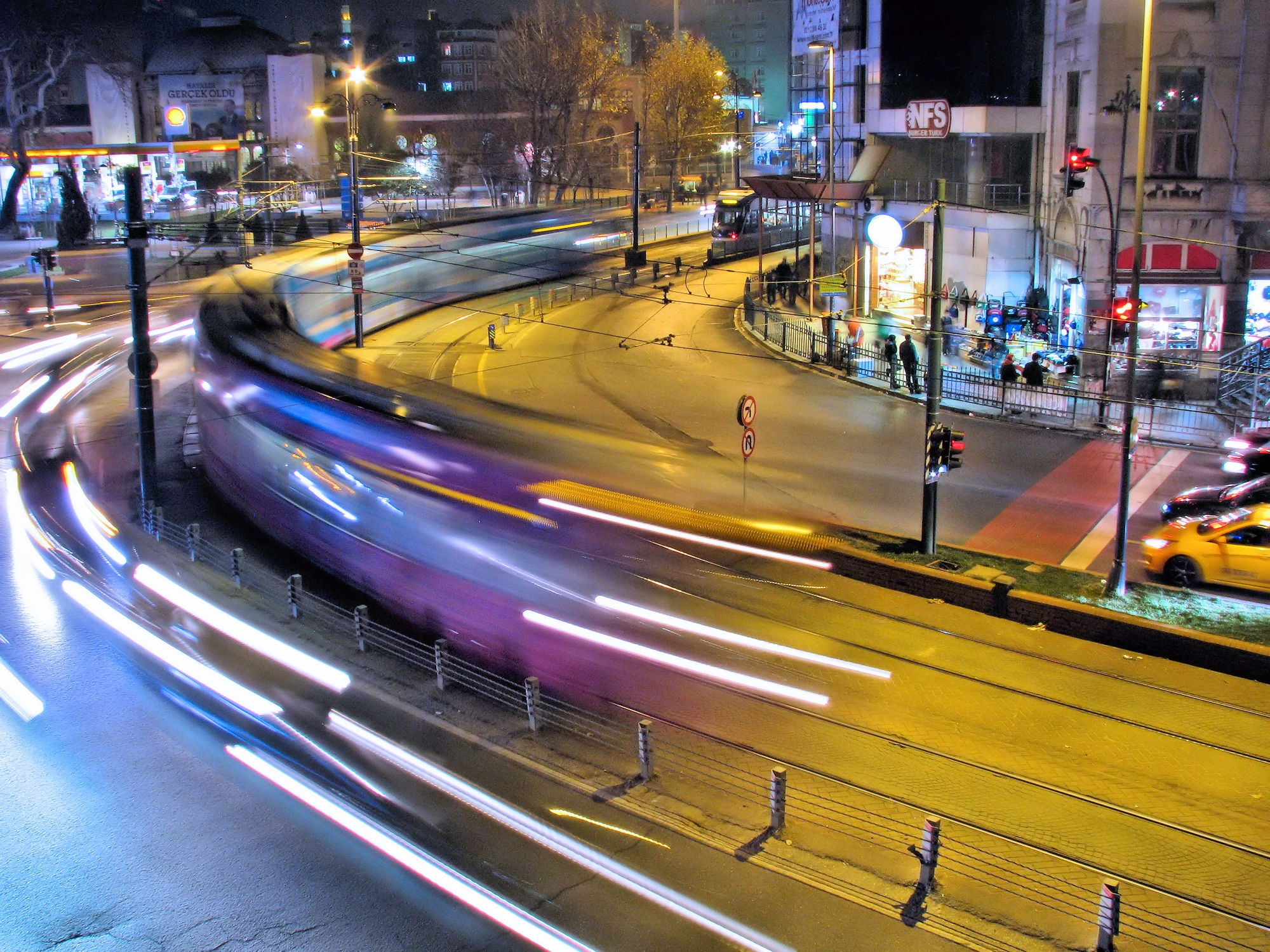 Istanbul Tram At Night  by Faruk Koçak