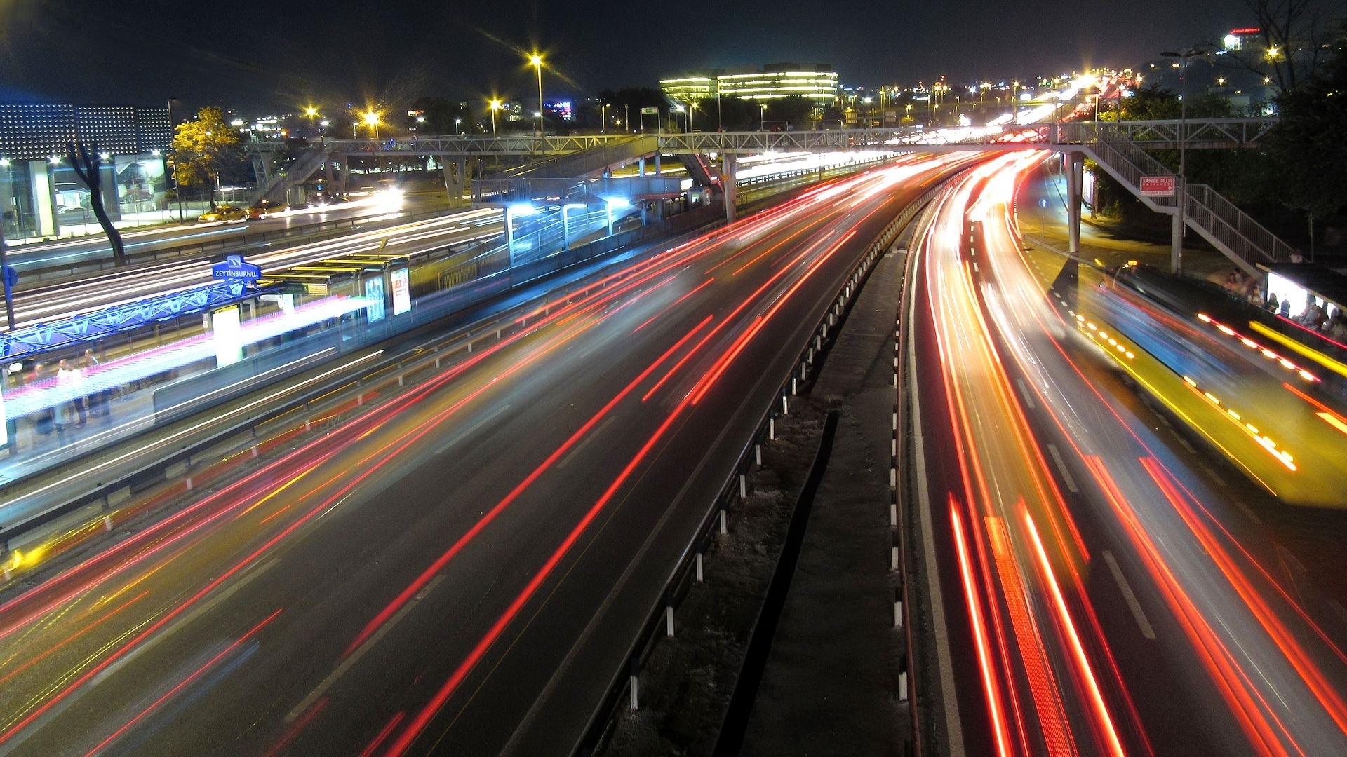 Istanbul Highway At Night by Faruk Koçak