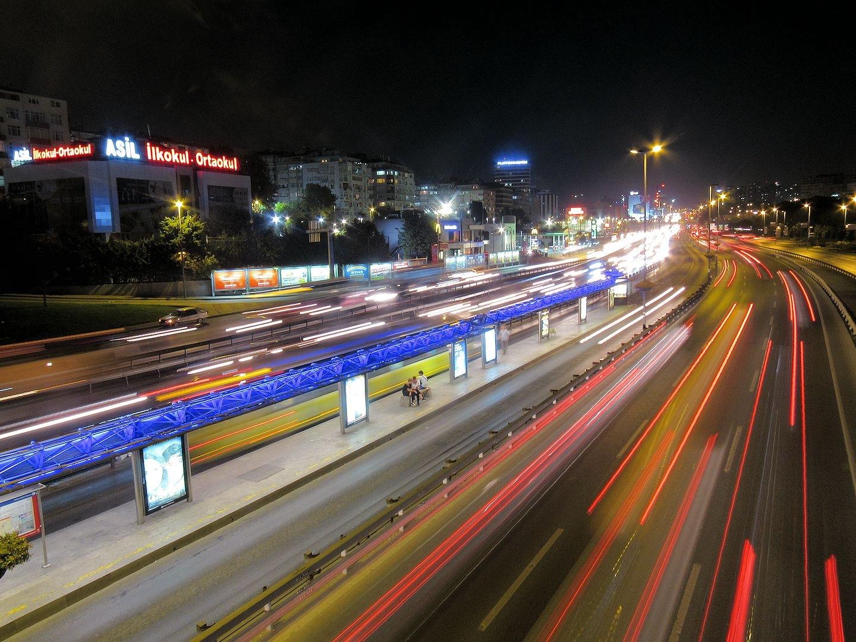 Istanbul Traffic at Night   by Faruk Koçak