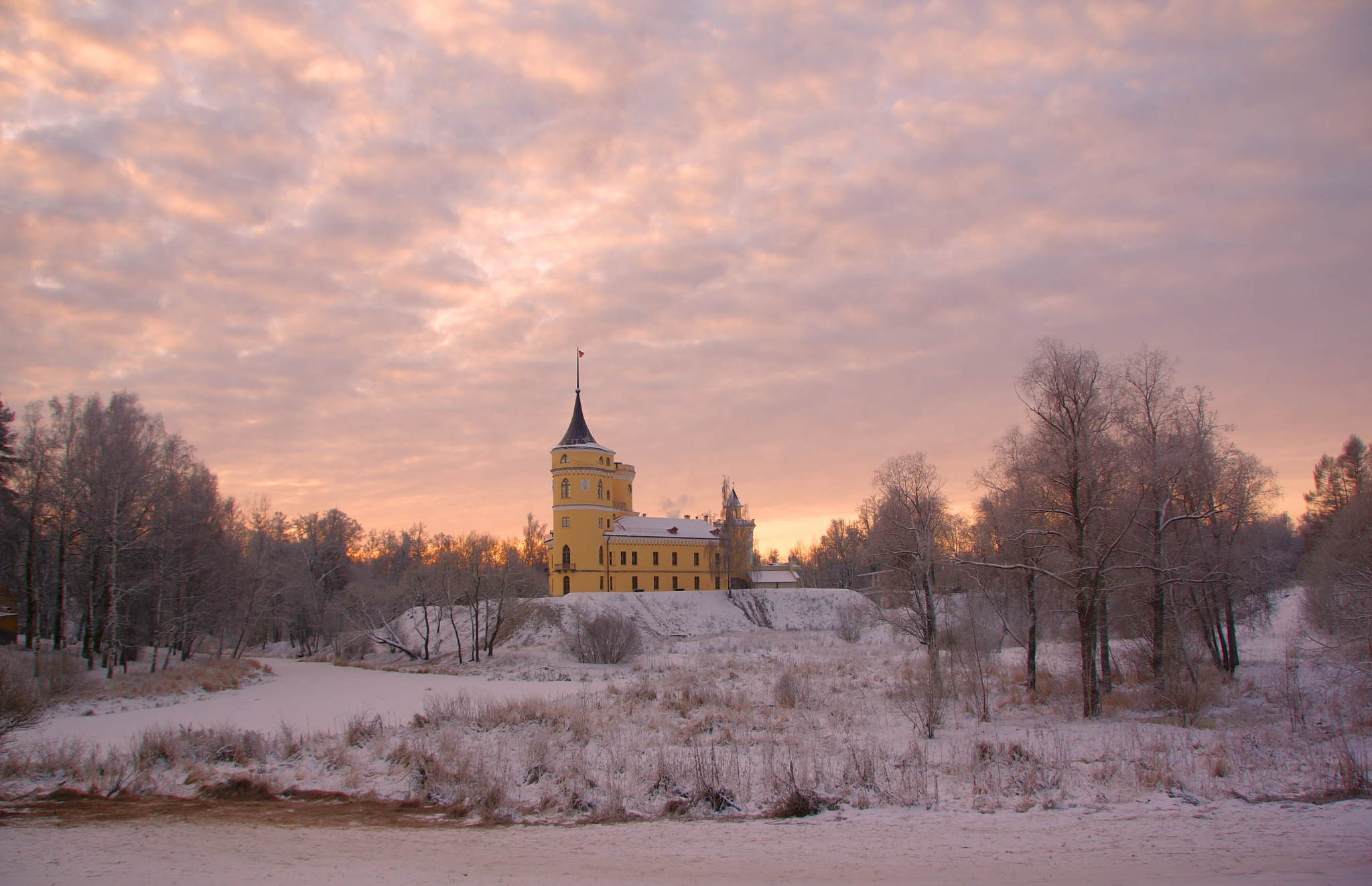Winter frosty morning by Sergey Andreevich