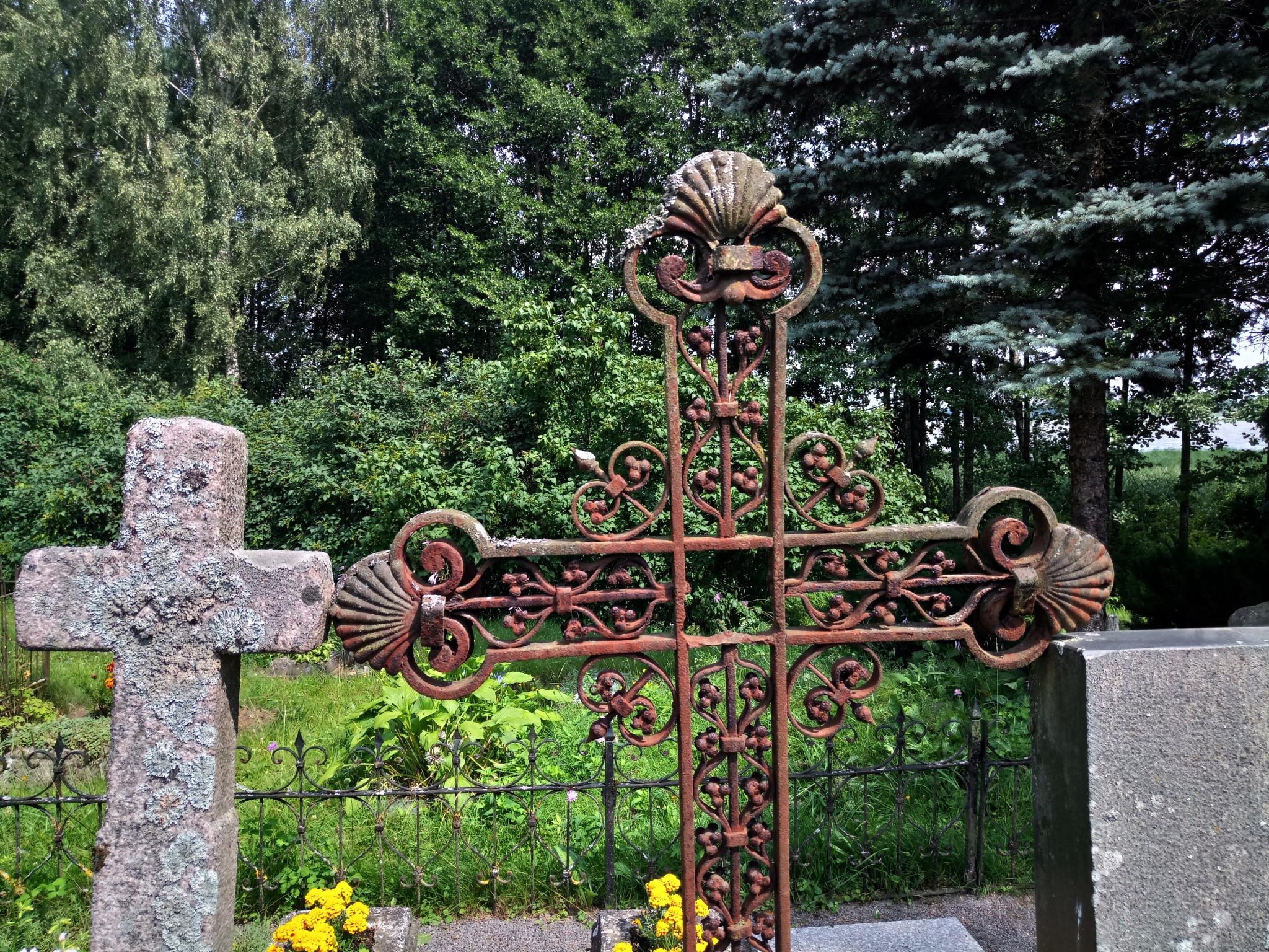 Village cemetery 7 by Zenonas Meškauskas
